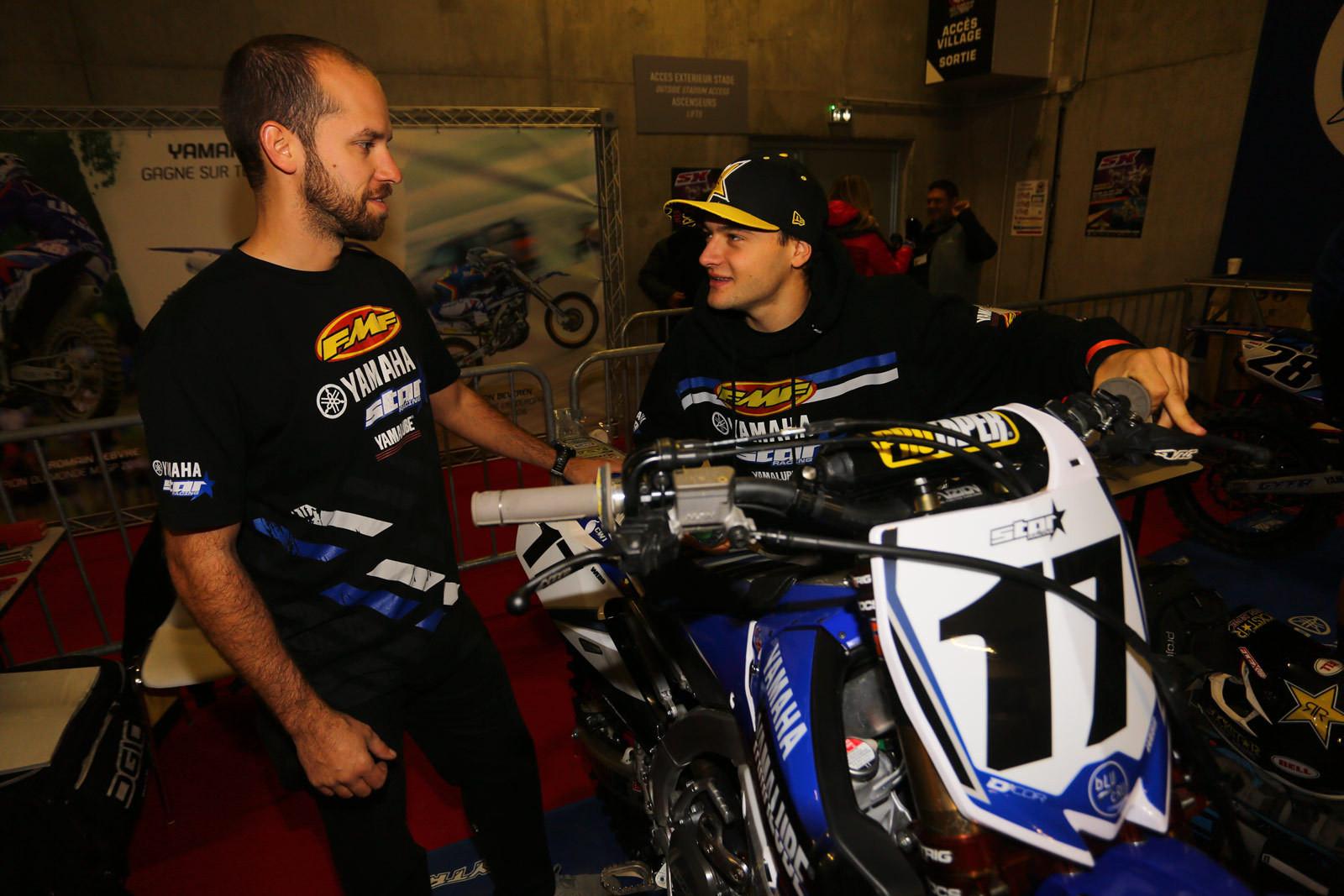 Eric Gass and Cooper Webb - Vital MX Pit Bits: Paris-Lille Supercross - Motocross Pictures - Vital MX