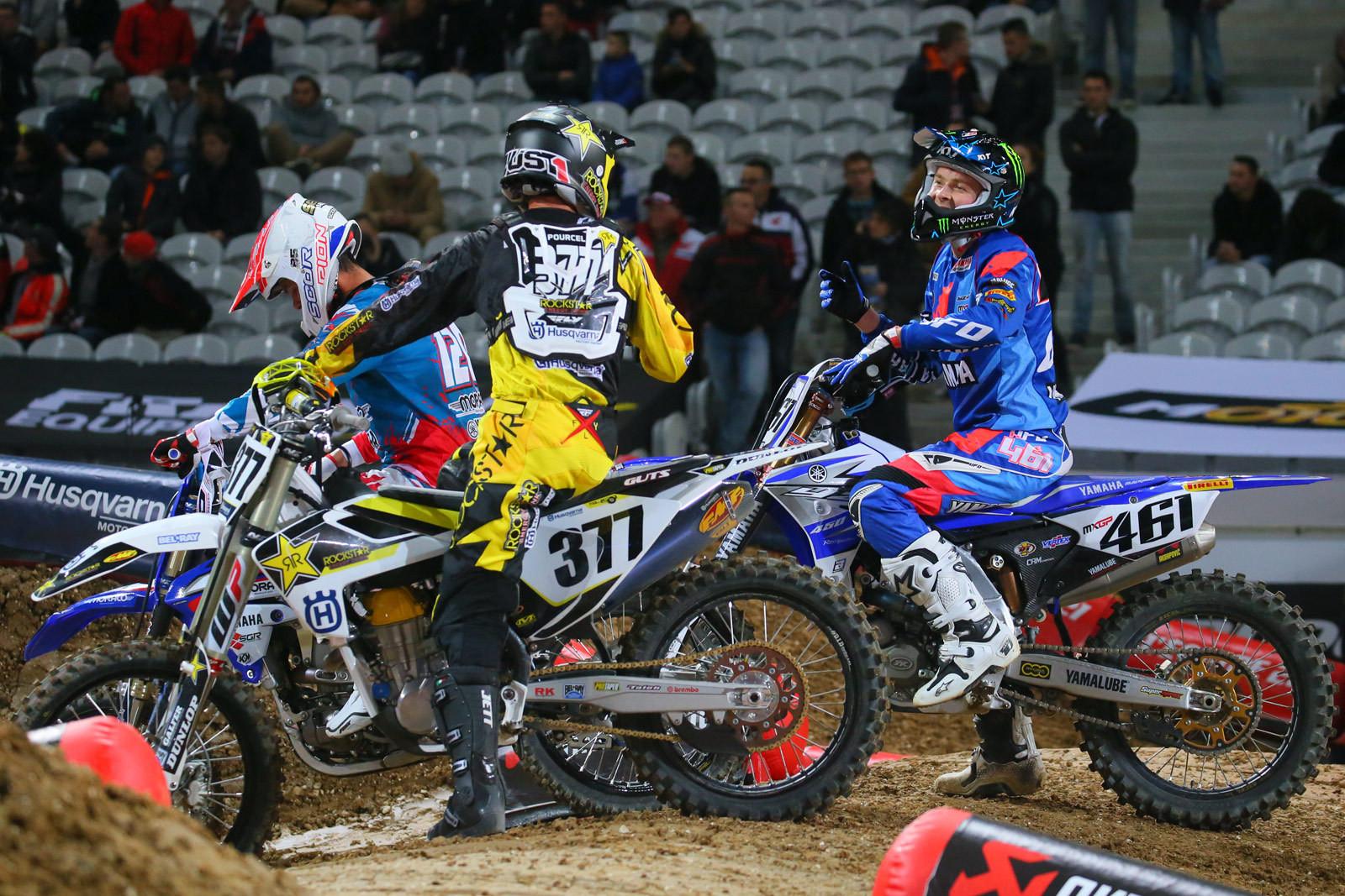 Christophe Pourcel and Romain Febvre - Vital MX Pit Bits: Paris-Lille Supercross - Motocross Pictures - Vital MX