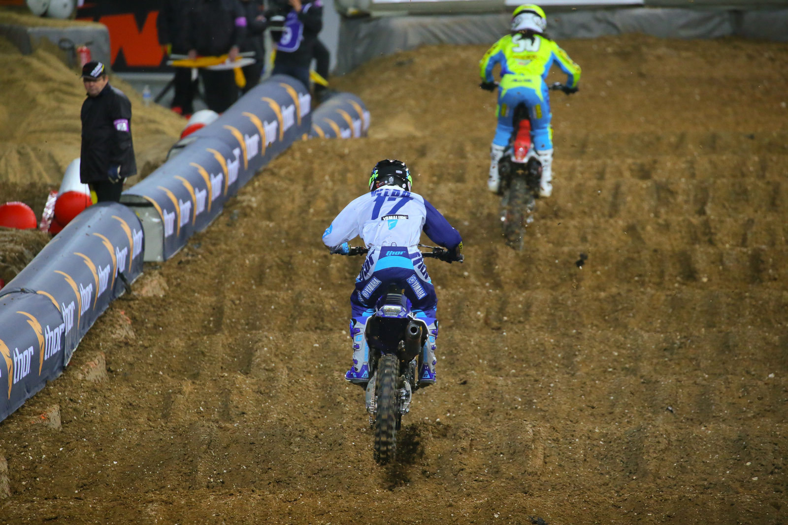 Cooper Webb and Malcolm Stewart - Vital MX Pit Bits: Paris-Lille Supercross - Motocross Pictures - Vital MX