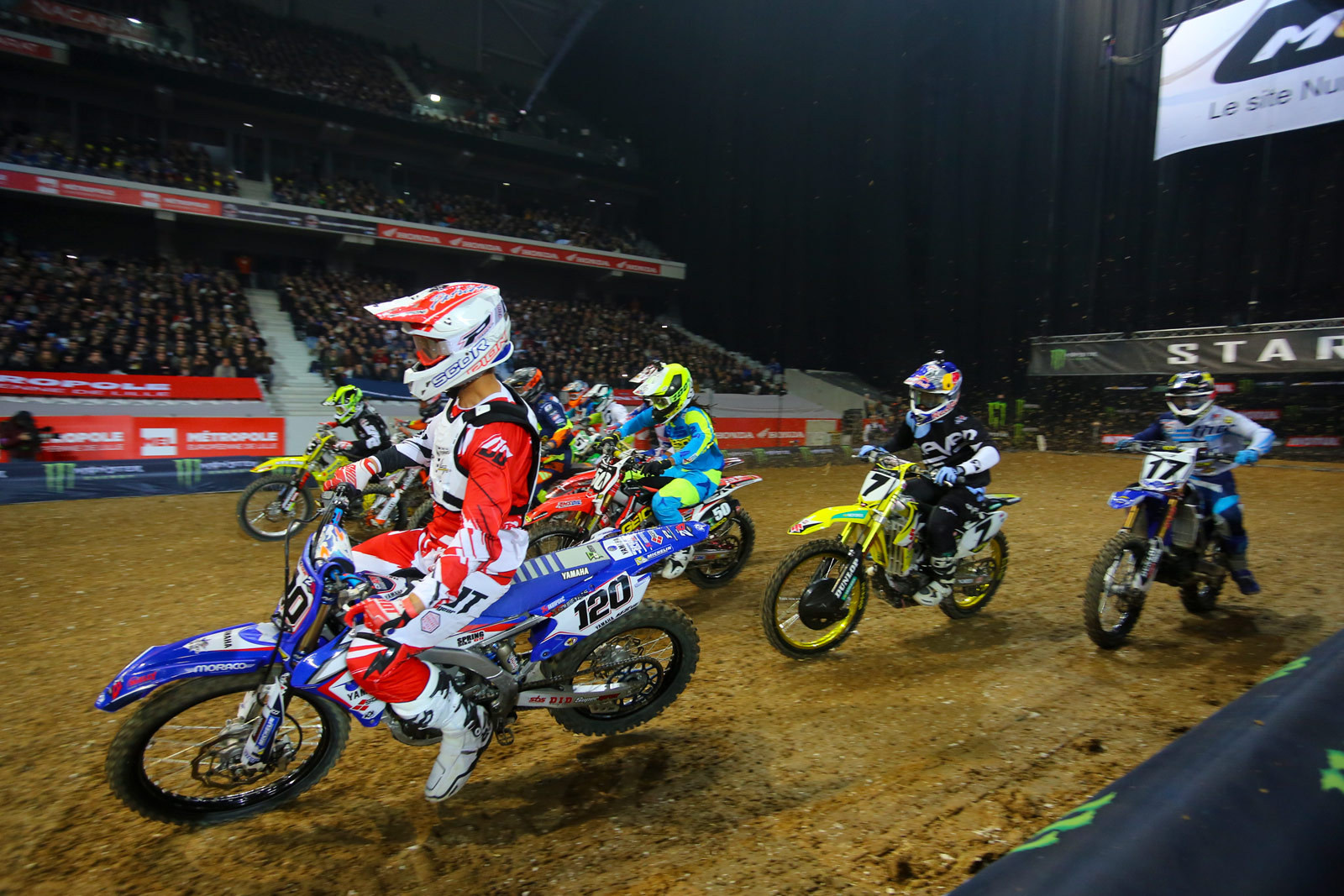 SX1 Heat Race Two - Photo Blast: Paris-Lille Supercross - Motocross Pictures - Vital MX