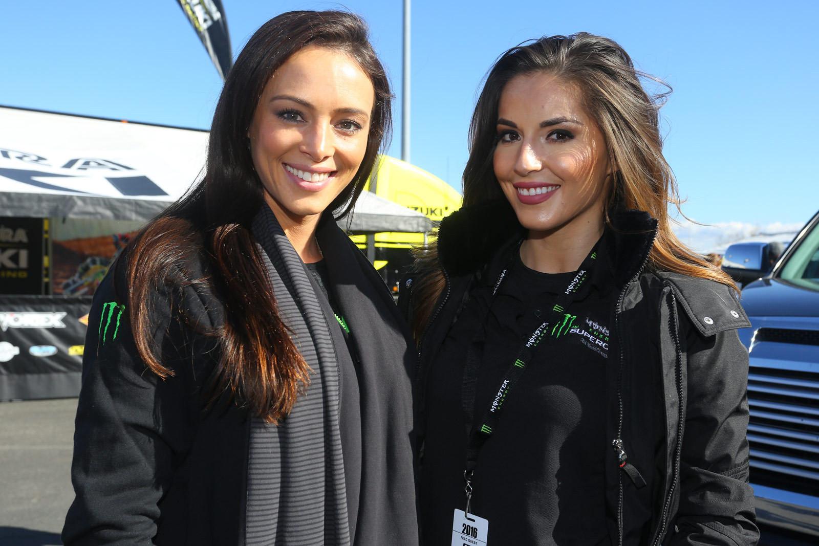 Juliana Daniel and Myra Tinajero - Vital MX Pit Bits: Anaheim 1 - Motocross Pictures - Vital MX