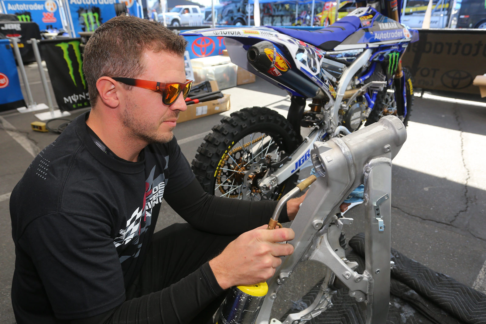Glenn Hobson - Vital MX Pit Bits: Anaheim 1 - Motocross Pictures - Vital MX