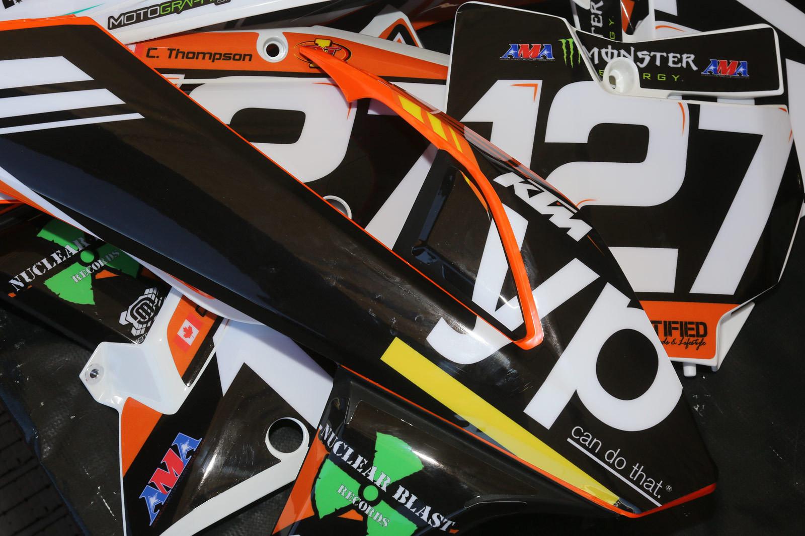 Cole Thompson - Vital MX Pit Bits: Anaheim 1 - Motocross Pictures - Vital MX