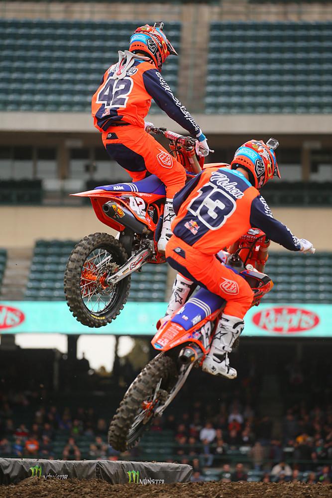 Mitchell Oldenburg and Jessy Nelson - Vital MX Pit Bits: Anaheim 1 - Motocross Pictures - Vital MX