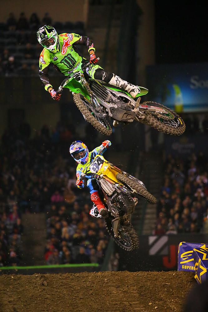 Eli Tomac and Ken Roczen - Photo Blast: Anaheim 2 - Motocross Pictures - Vital MX