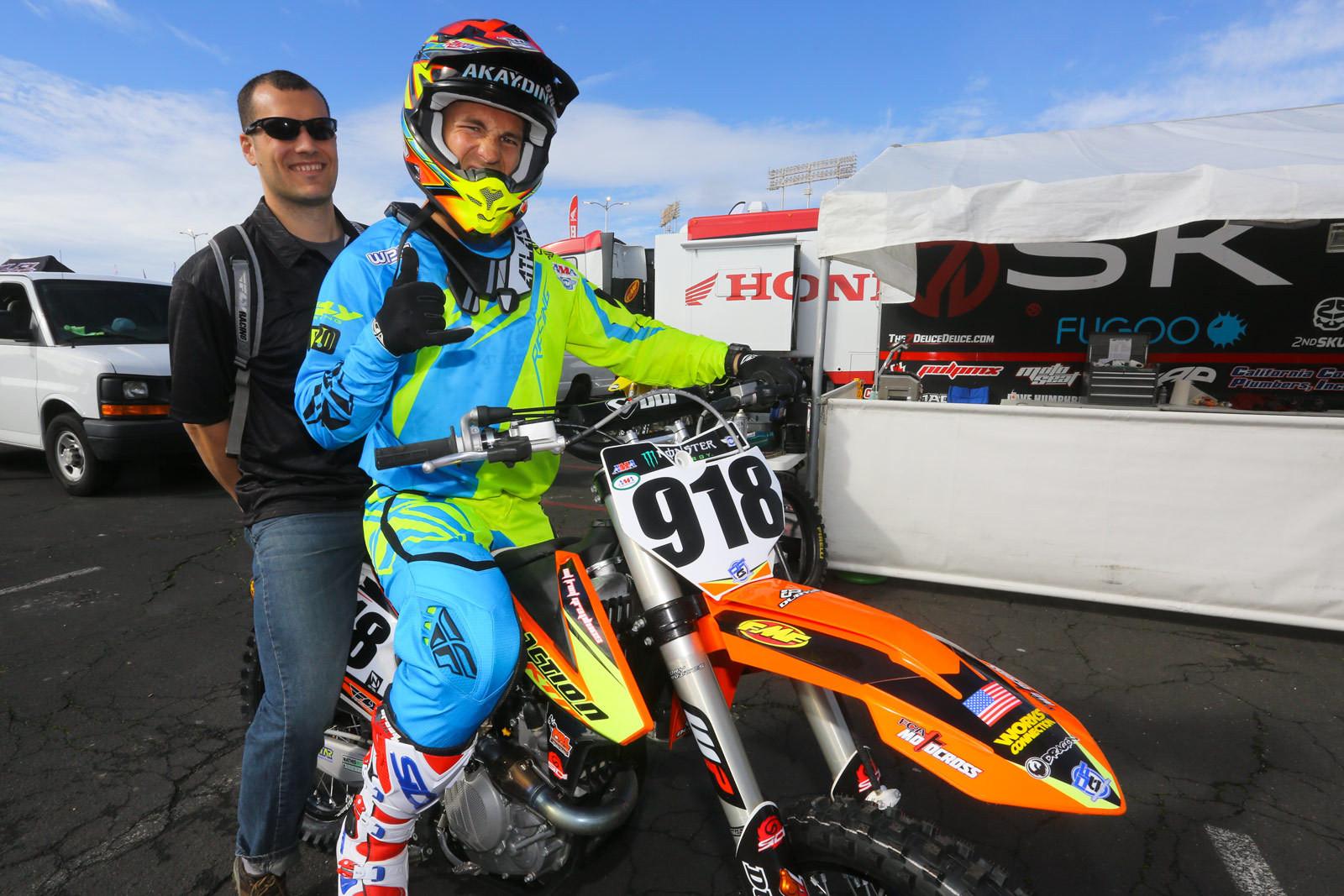 Michael Akaydin - Vital MX Pit Bits: Oakland - Motocross Pictures - Vital MX