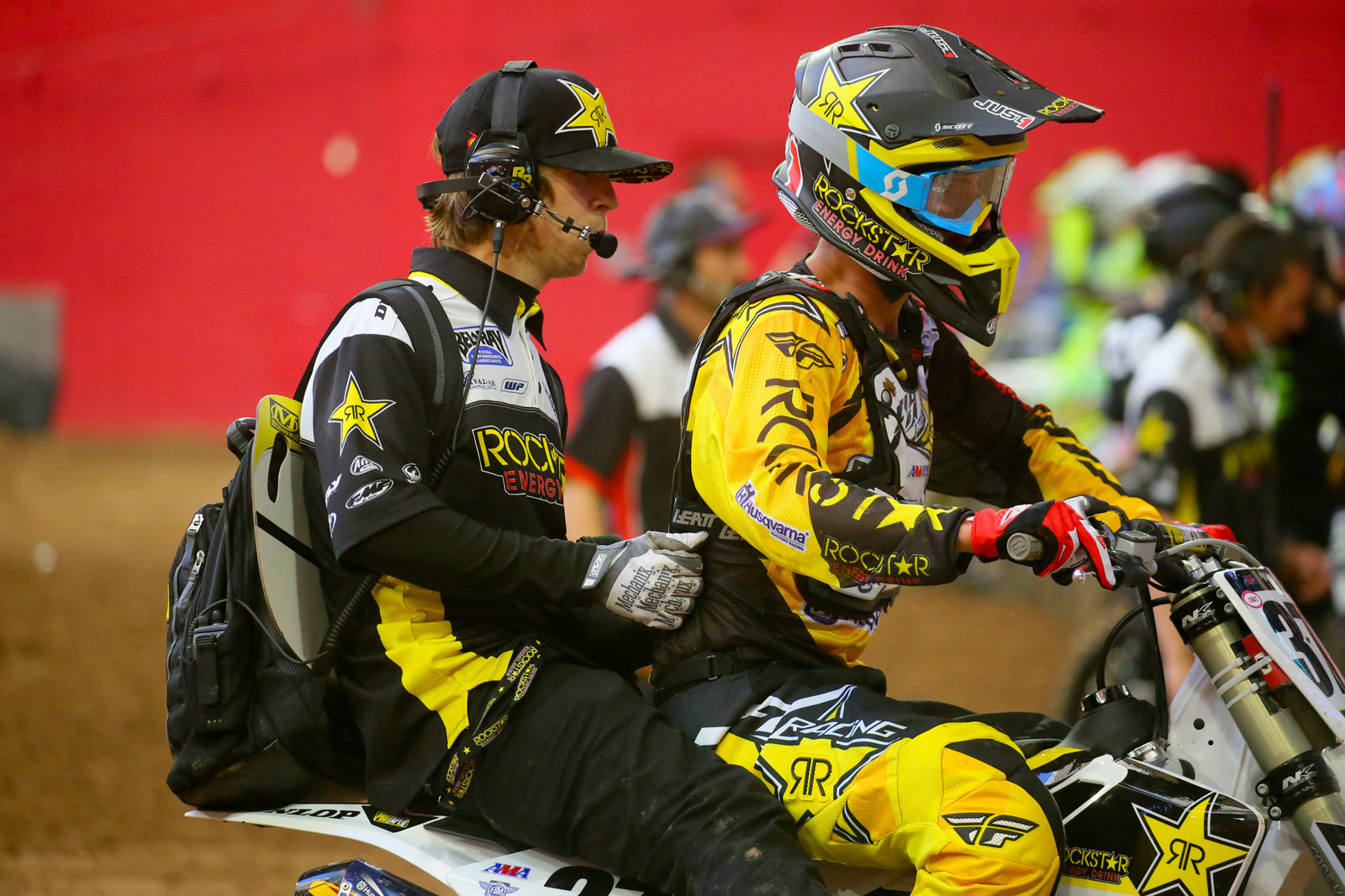 Christophe Pourcel and Daniel Castloo - Vital MX Pit Bits: Glendale - Motocross Pictures - Vital MX