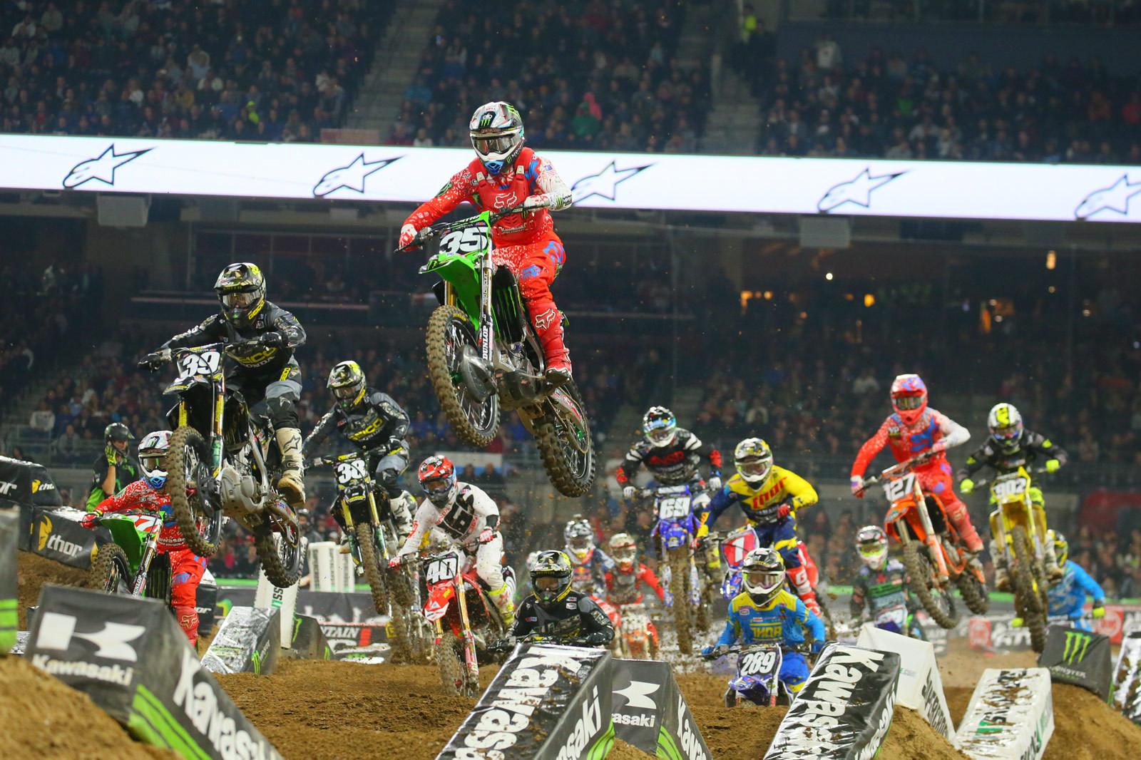 250 Main Event Start - Photo Blast: San Diego 2 - Motocross Pictures - Vital MX