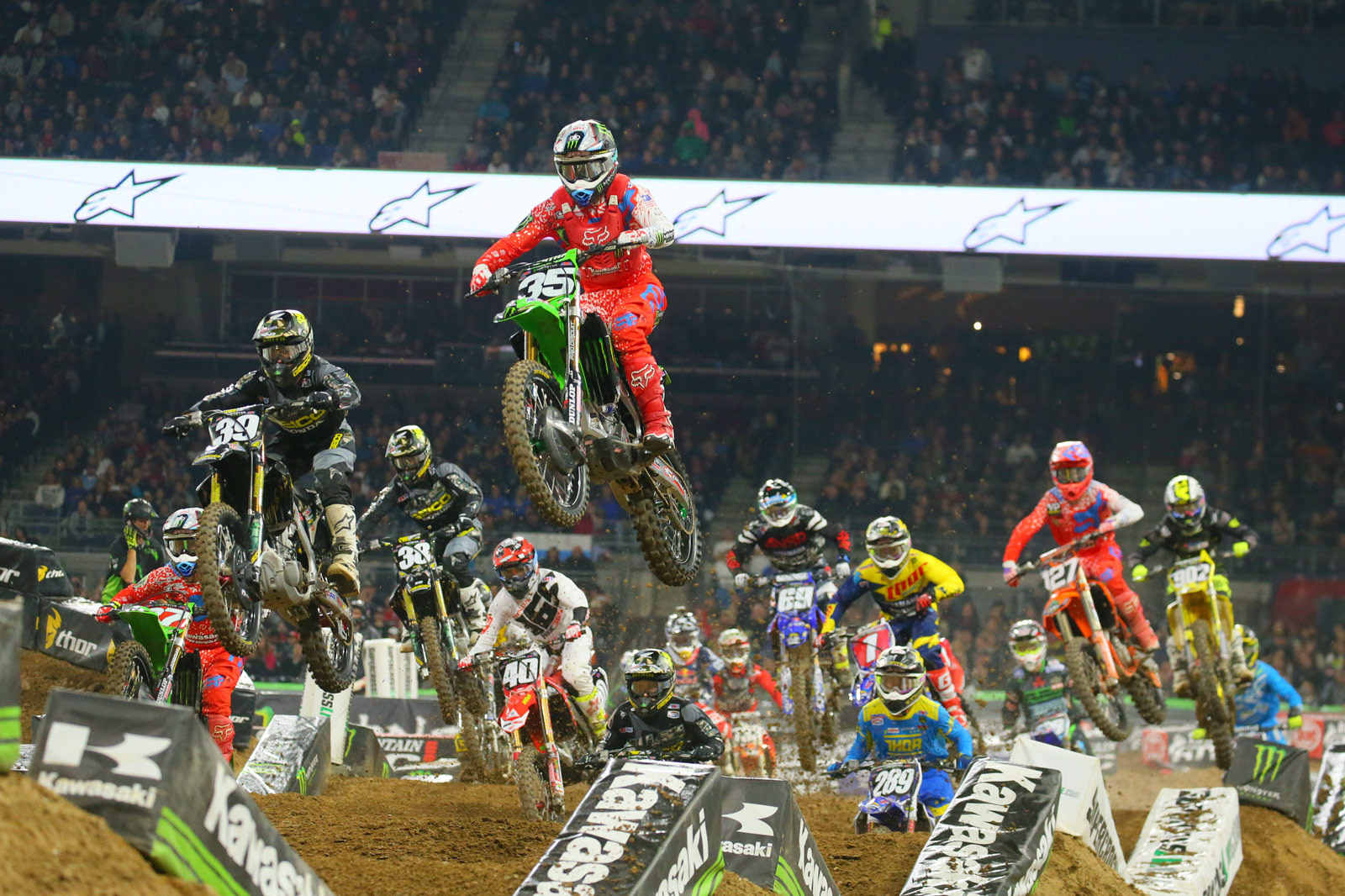 250 Main Event Start - Photo Blast: San Diego 2 - Motocross Pictures - Vital MX