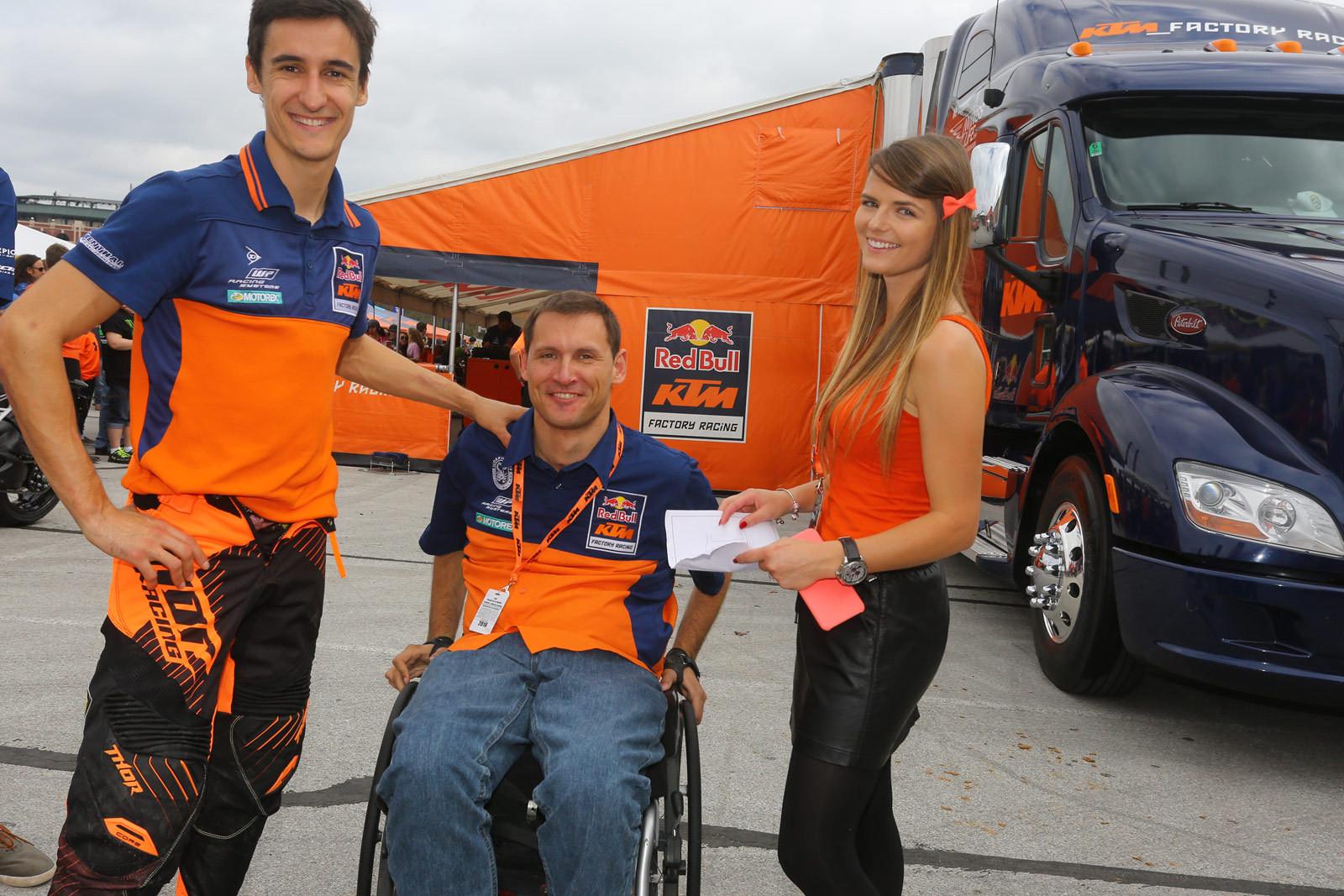 Marvin Musquin, Hannes Kinigadner, and Mathilde Musquin - Vital MX Pit Bits: Arlington - Motocross Pictures - Vital MX