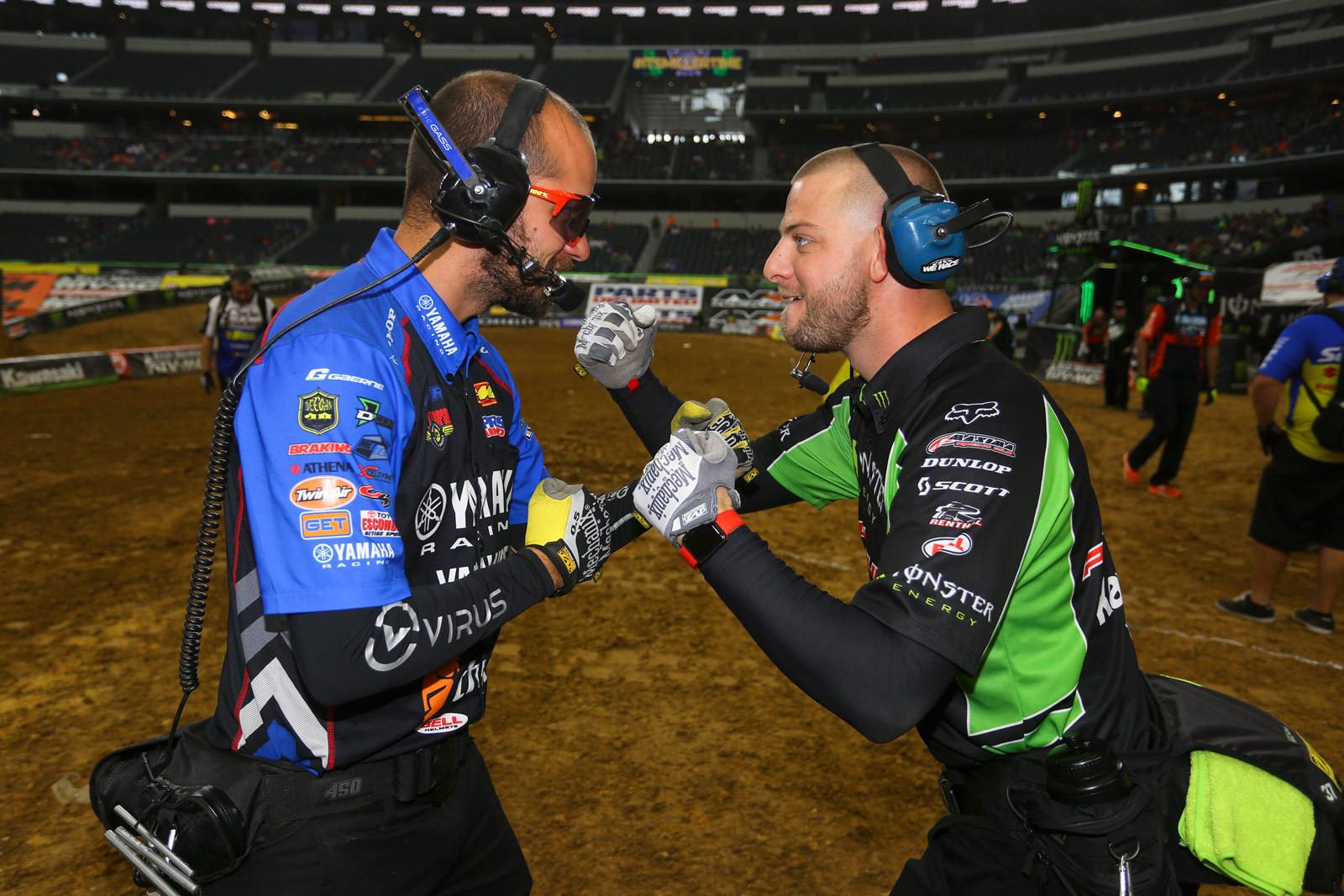 Eric Gass and Justin Shantie - Vital MX Pit Bits: Arlington - Motocross Pictures - Vital MX