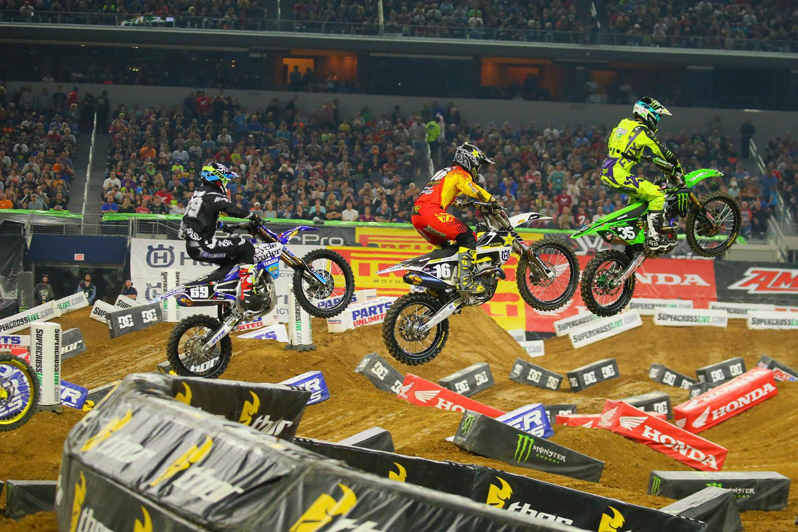 Chris Alldredge, Zach Osborne, and Colt Nichols - Photo Blast: Arlington - Motocross Pictures - Vital MX