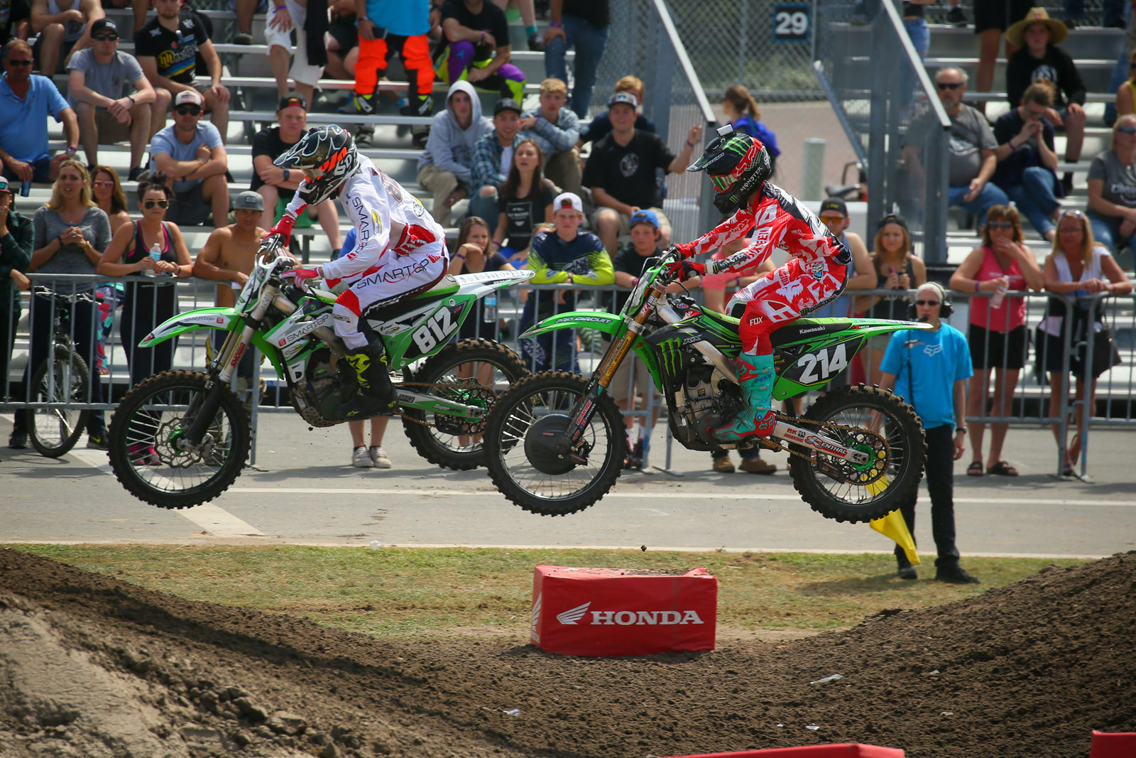 Cameron Mcadoo and Austin Forkner - 2016 Ricky Carmichael Amateur Supercross - Motocross Pictures - Vital MX