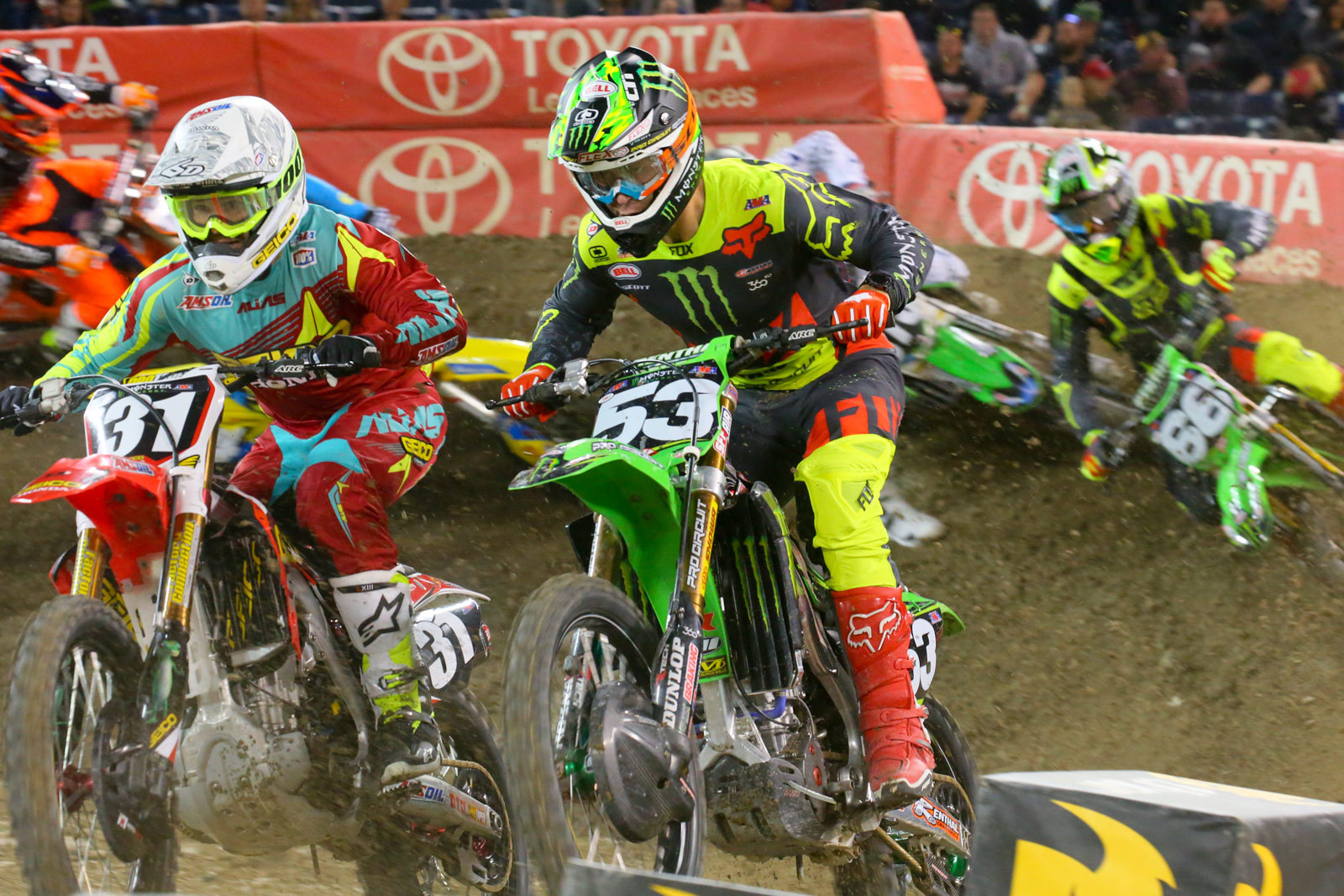 RJ Hampshire and Tyler Bowers - Photo Blast: Toronto - Motocross Pictures - Vital MX