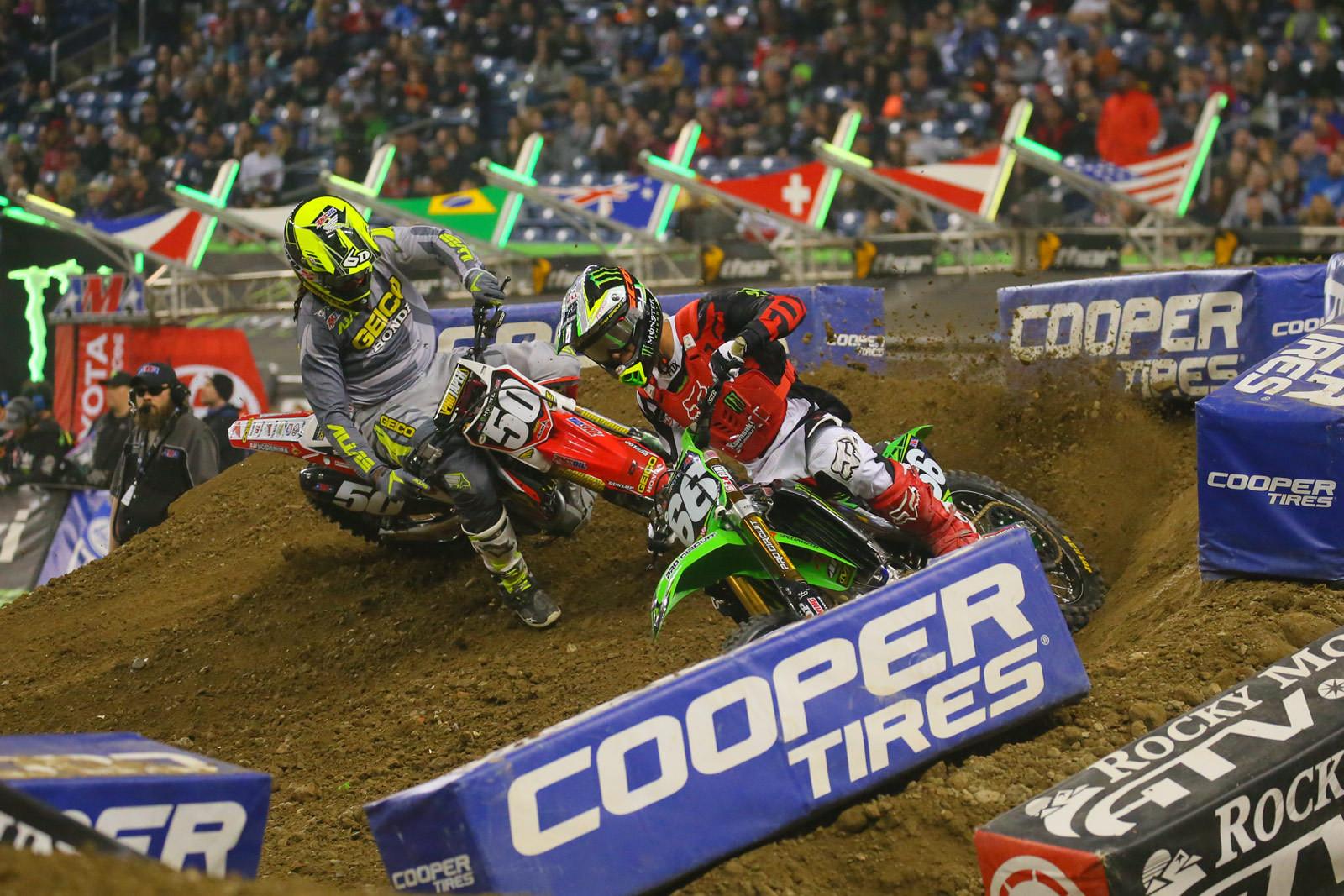 Arnaud Tonus and Malcolm Stewart - Photo Blast: Detroit - Motocross Pictures - Vital MX