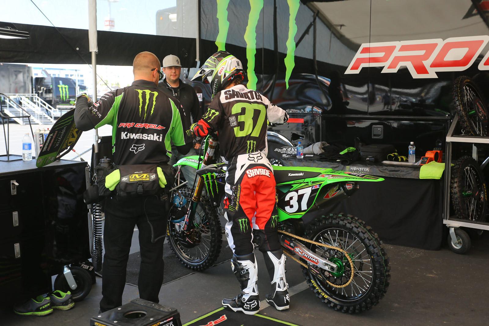 Joey Savatgy - Pit Bits: Santa Clara - Motocross Pictures - Vital MX