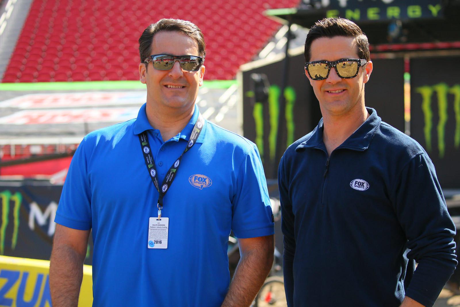 Ralph Sheheen and Jeff Emig - Pit Bits: Santa Clara - Motocross Pictures - Vital MX