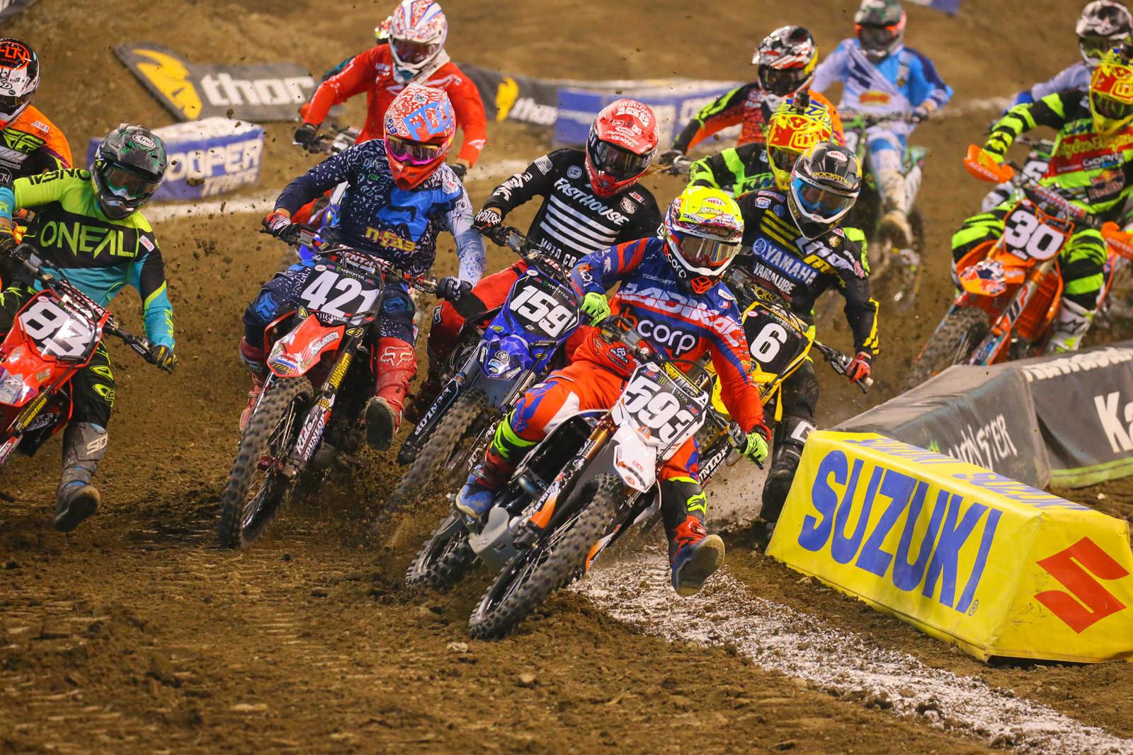 250 Heat Race One Start - Photo Blast: Indianapolis - Motocross Pictures - Vital MX