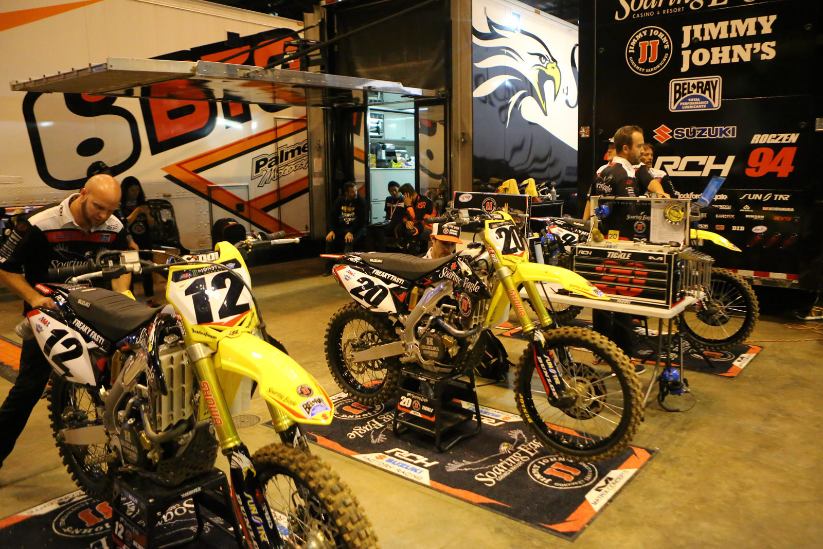 RCH Soaring Eagle/Jimmy Johns/Suzuki Factory Racing - Vital MX Pit Bits: St. Louis - Motocross Pictures - Vital MX