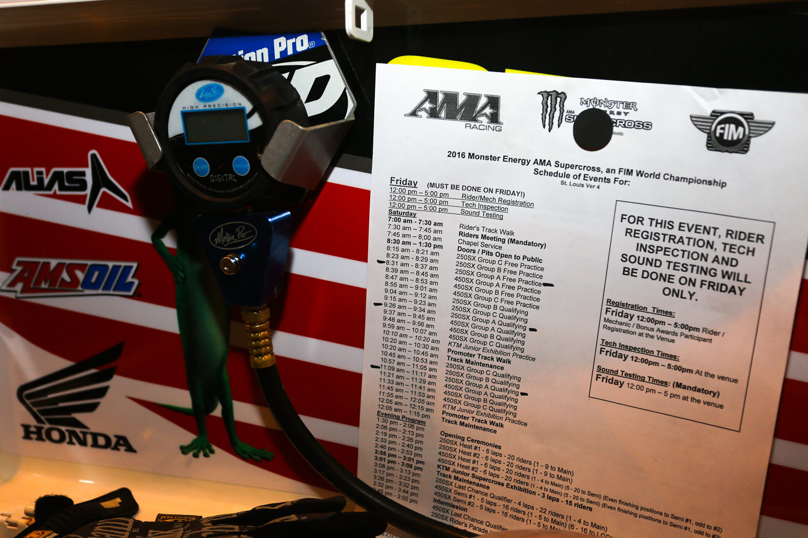 Daytime schedule - Vital MX Pit Bits: St. Louis - Motocross Pictures - Vital MX