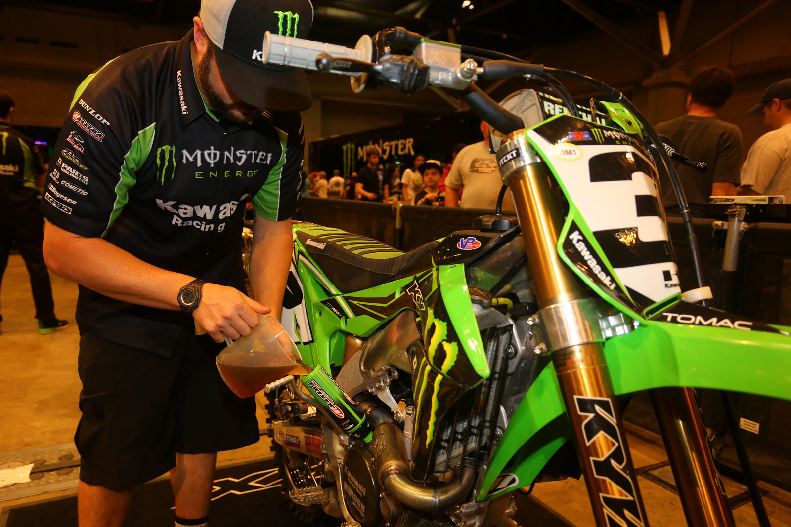 Kawasaki funnel - Vital MX Pit Bits: St. Louis - Motocross Pictures - Vital MX