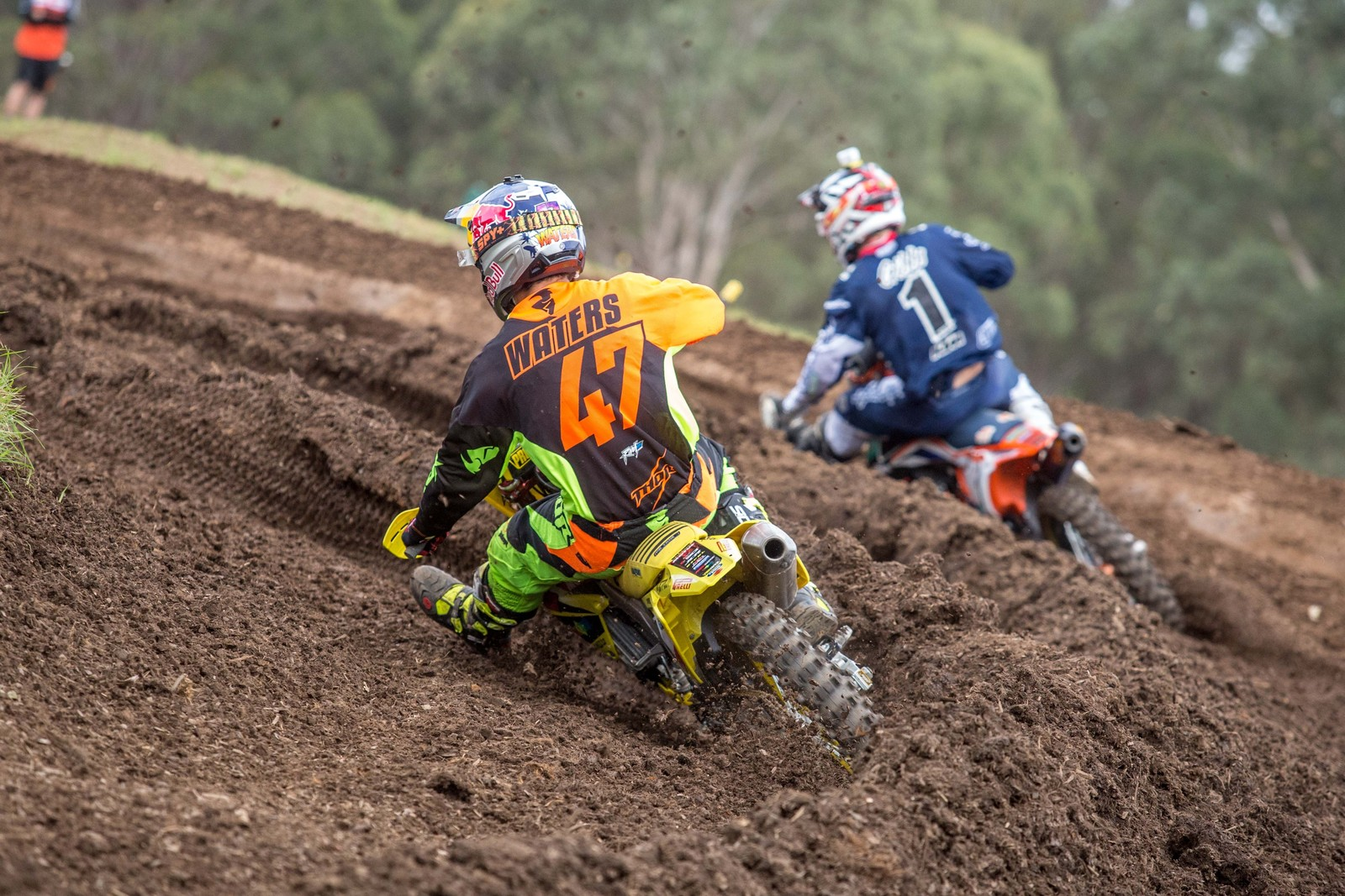 Todd Waters and Kirk Gibbs - Australian Motul Motocross Nationals Round 2, Appin - Motocross Pictures - Vital MX