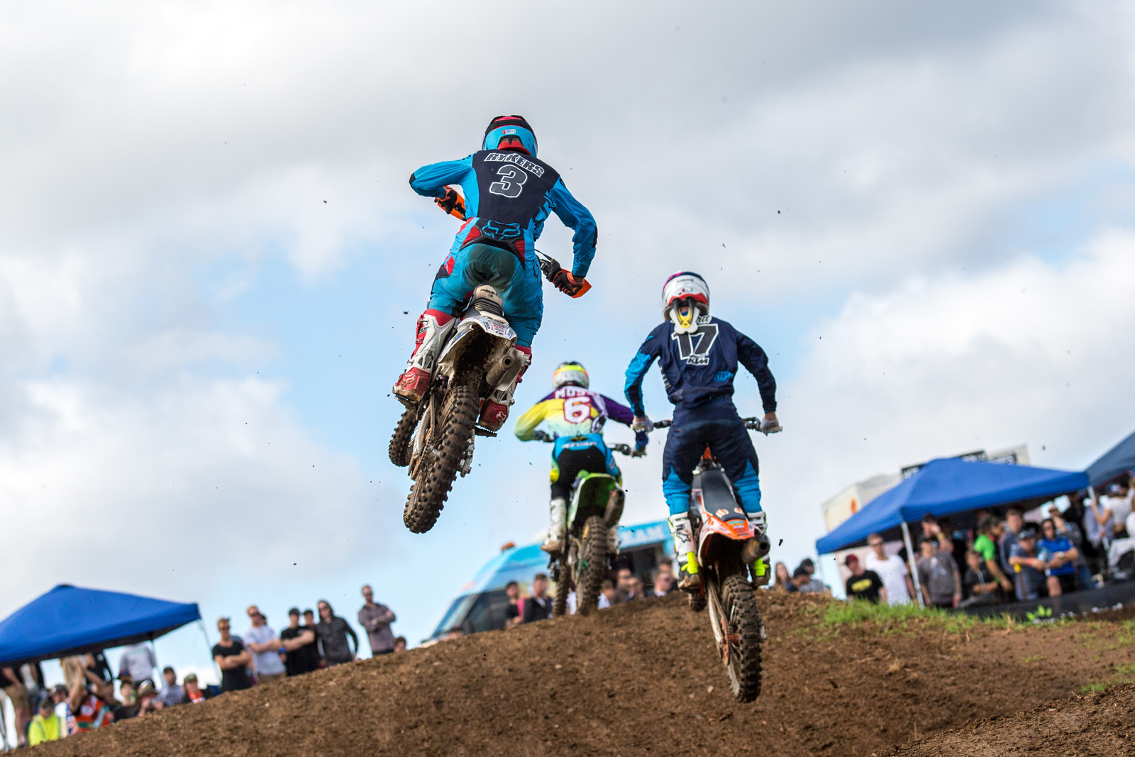 Jayden Reykers, Caleb Ward, and Jake Moss - Australian Motul Motocross Nationals Round 2, Appin - Motocross Pictures - Vital MX