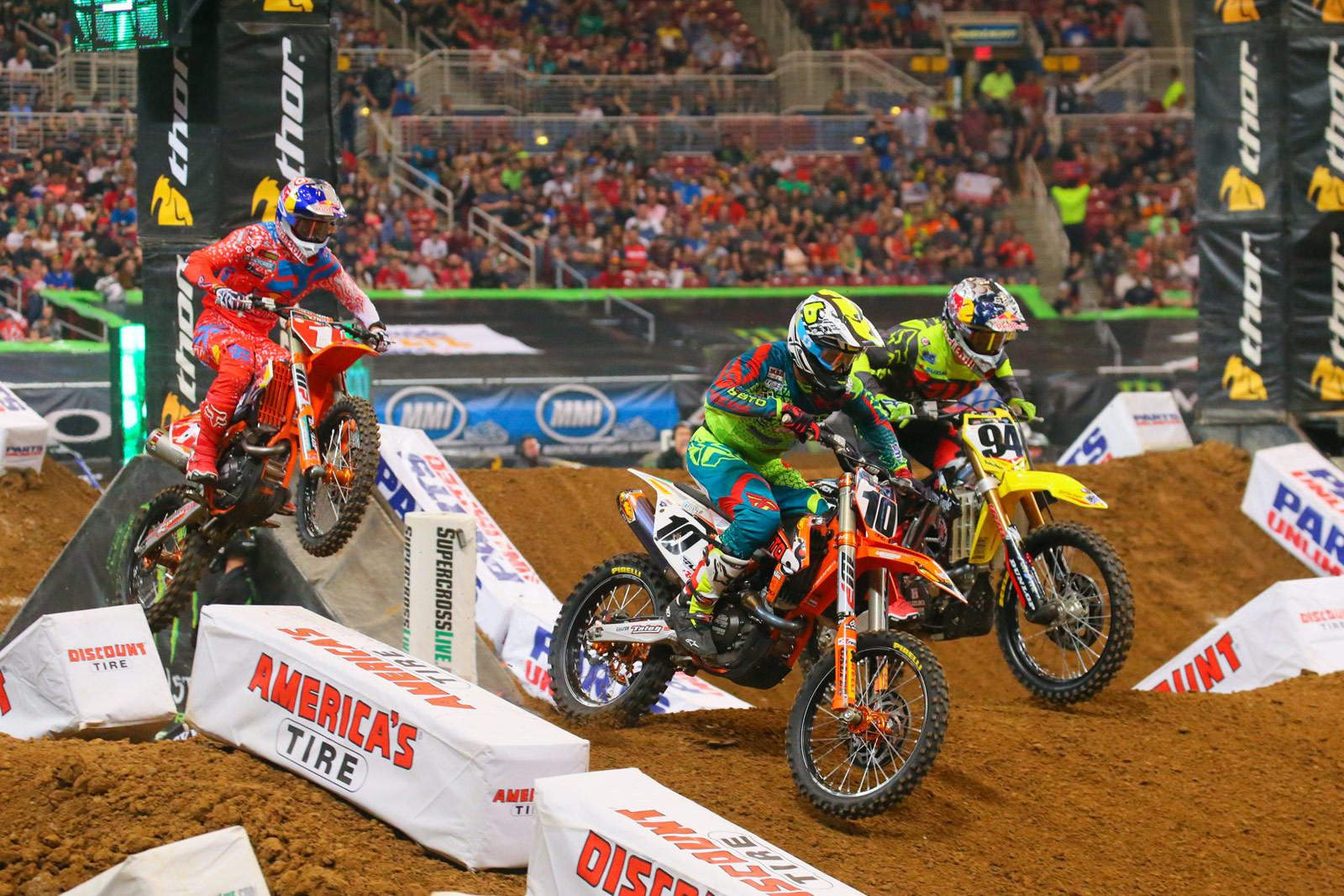 Justin Brayton, Ken Roczen, and Ryan Dungey - Photo Blast: St. Louis - Motocross Pictures - Vital MX