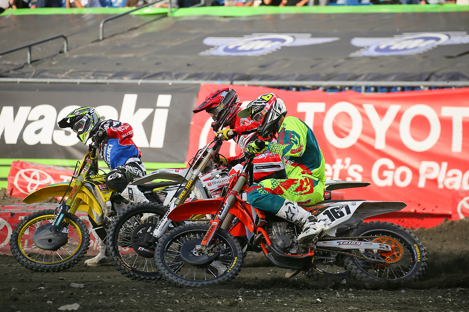 Blake Baggett, Vince Friese, and Benny Bloss - Pit Bits: Foxborough - Motocross Pictures - Vital MX