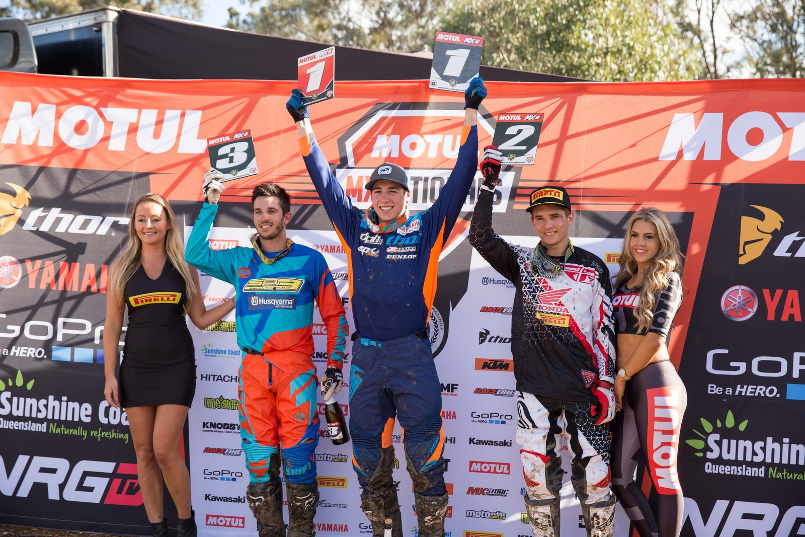 MX2 Podium - Australian Motul Motocross Nationals Round 3, Broadford - Motocross Pictures - Vital MX