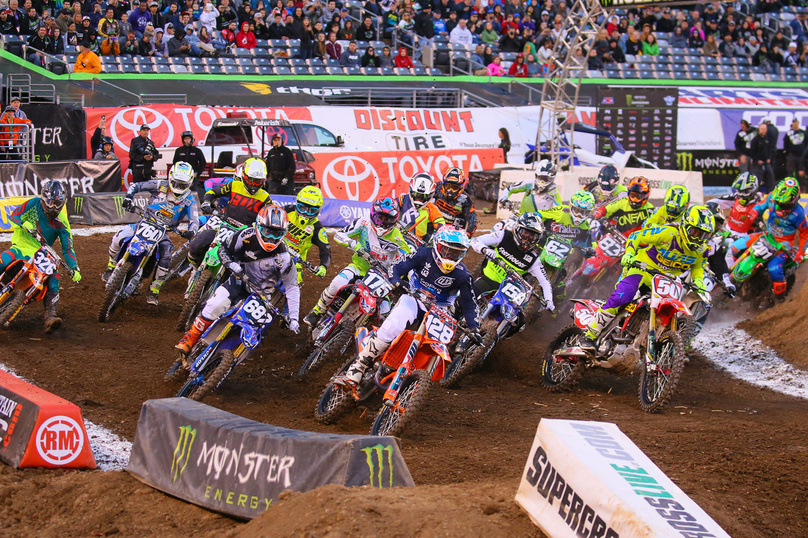 East Rutherford Photo Blast - 250 Heat Race One Start - Photo Blast: East Rutherford - Motocross Pictures - Vital MX