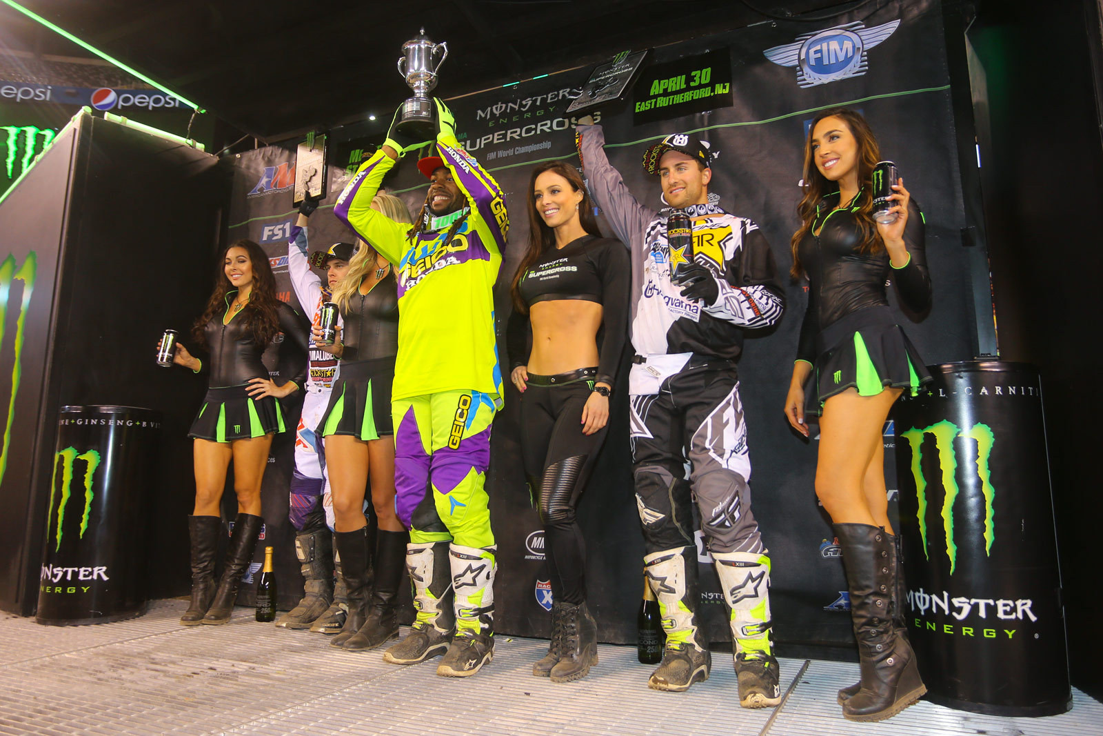 Malcolm Stewart (1st), Martin Davalos (2nd), and Jeremy Martin (3rd) - Photo Blast: East Rutherford - Motocross Pictures - Vital MX