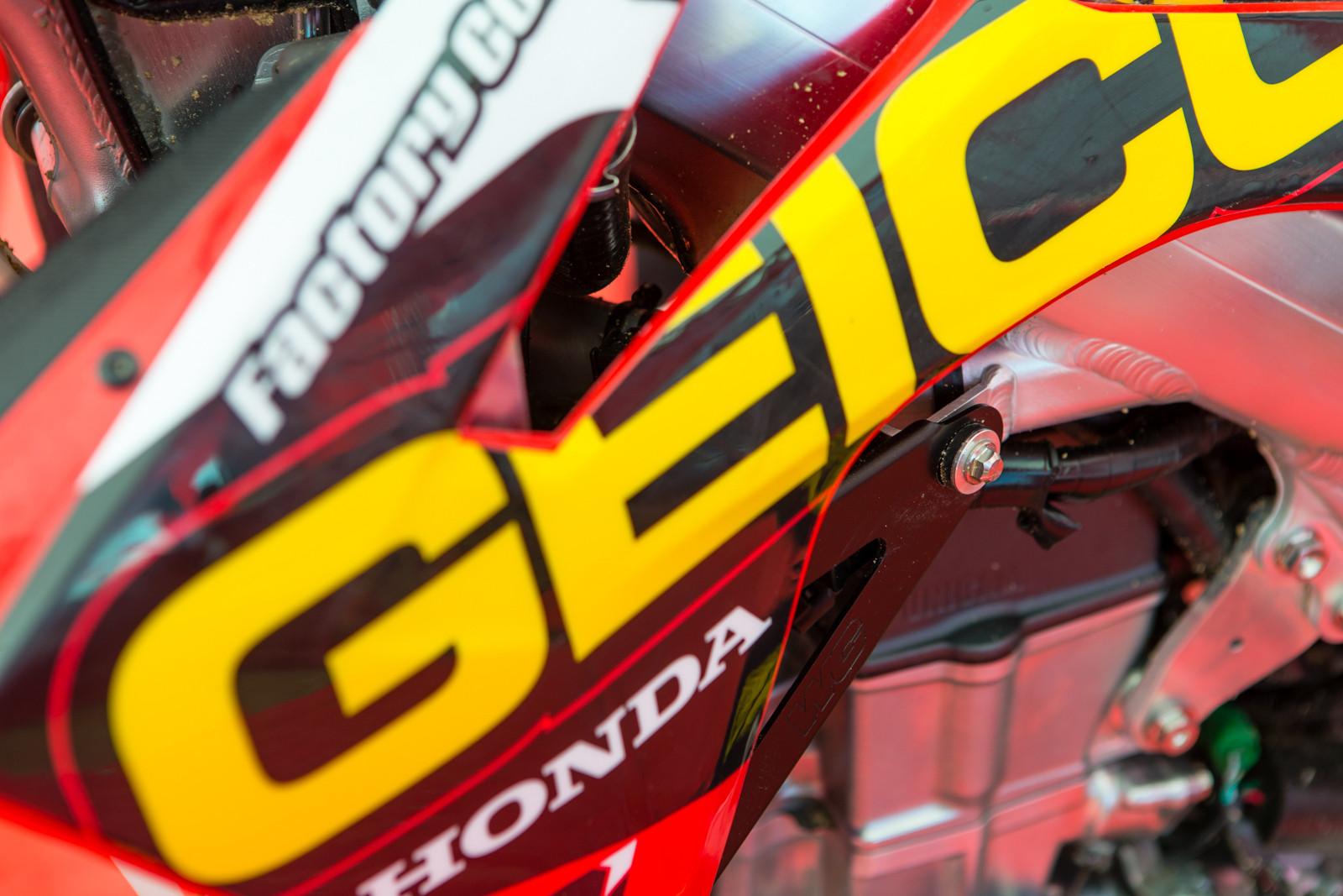 Justin Bogle's bike - Vital MX Pit Bits: Glen Helen - Motocross Pictures - Vital MX