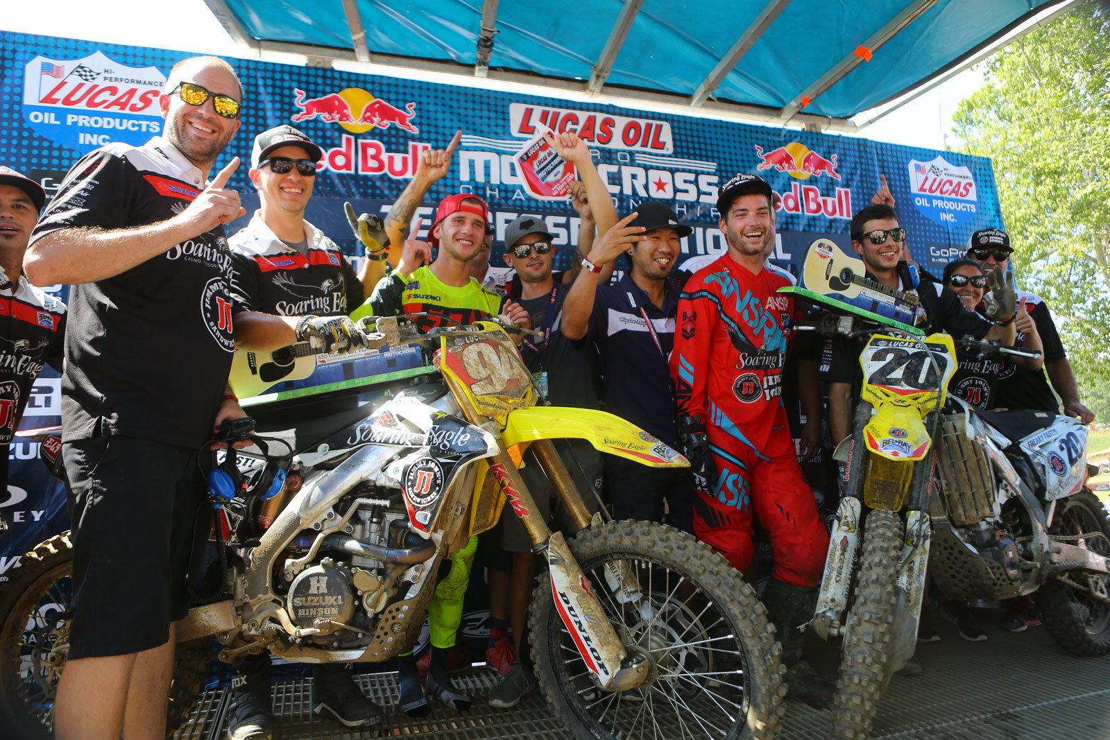 RCH Soaring Eagle/Jimmy Johns/Suzuki Factory Racing - Vital MX Pit Bits: Muddy Creek - Motocross Pictures - Vital MX