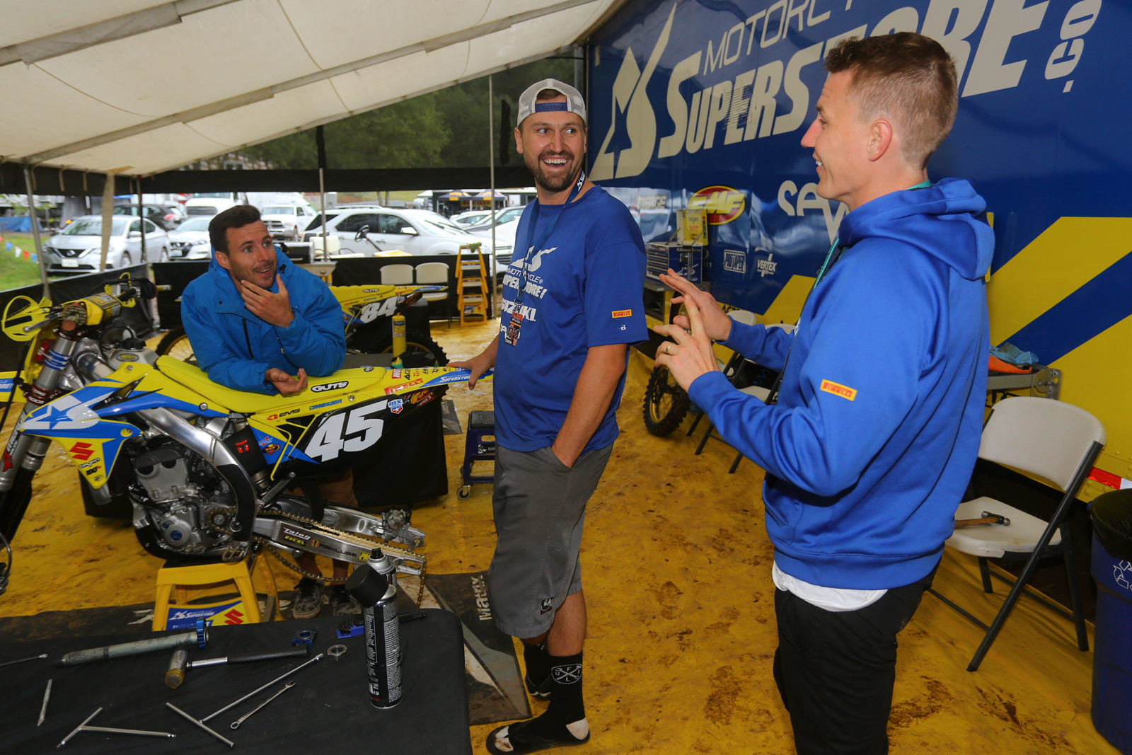 Motorcycle Superstore/Suzuki Racing - Vital MX Pit Bits: Washougal - Motocross Pictures - Vital MX