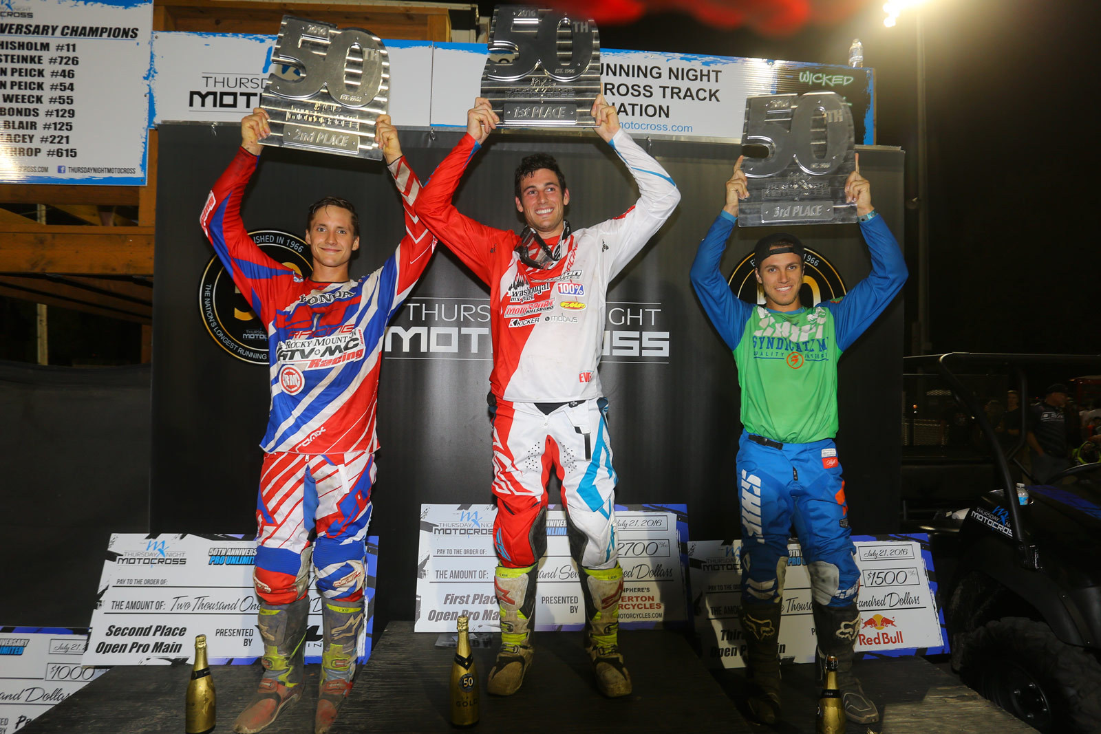Tommy Weeck (1st), Fredrik Noren (2nd), Dillan Epstein (3rd) - Vital MX Pit Bits: Washougal - Motocross Pictures - Vital MX