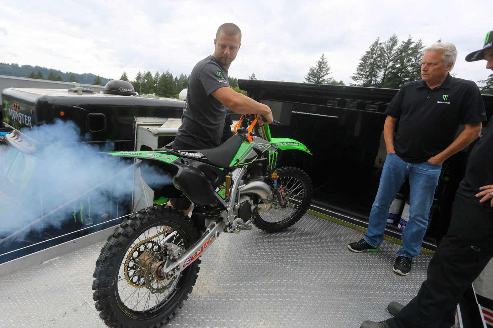 Smoking Light is on - Vital MX Pit Bits: Washougal - Motocross Pictures - Vital MX