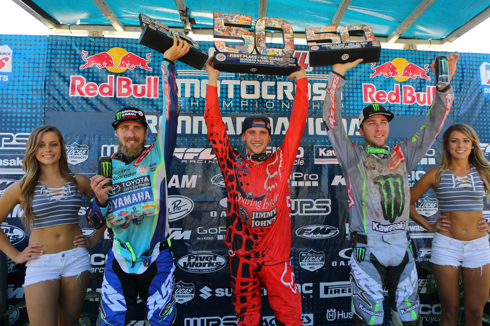 Ken Roczen (1st), Justin Barcia (2nd), and Eli Tomac (3rd) - Photo Blast: Ironman - Motocross Pictures - Vital MX