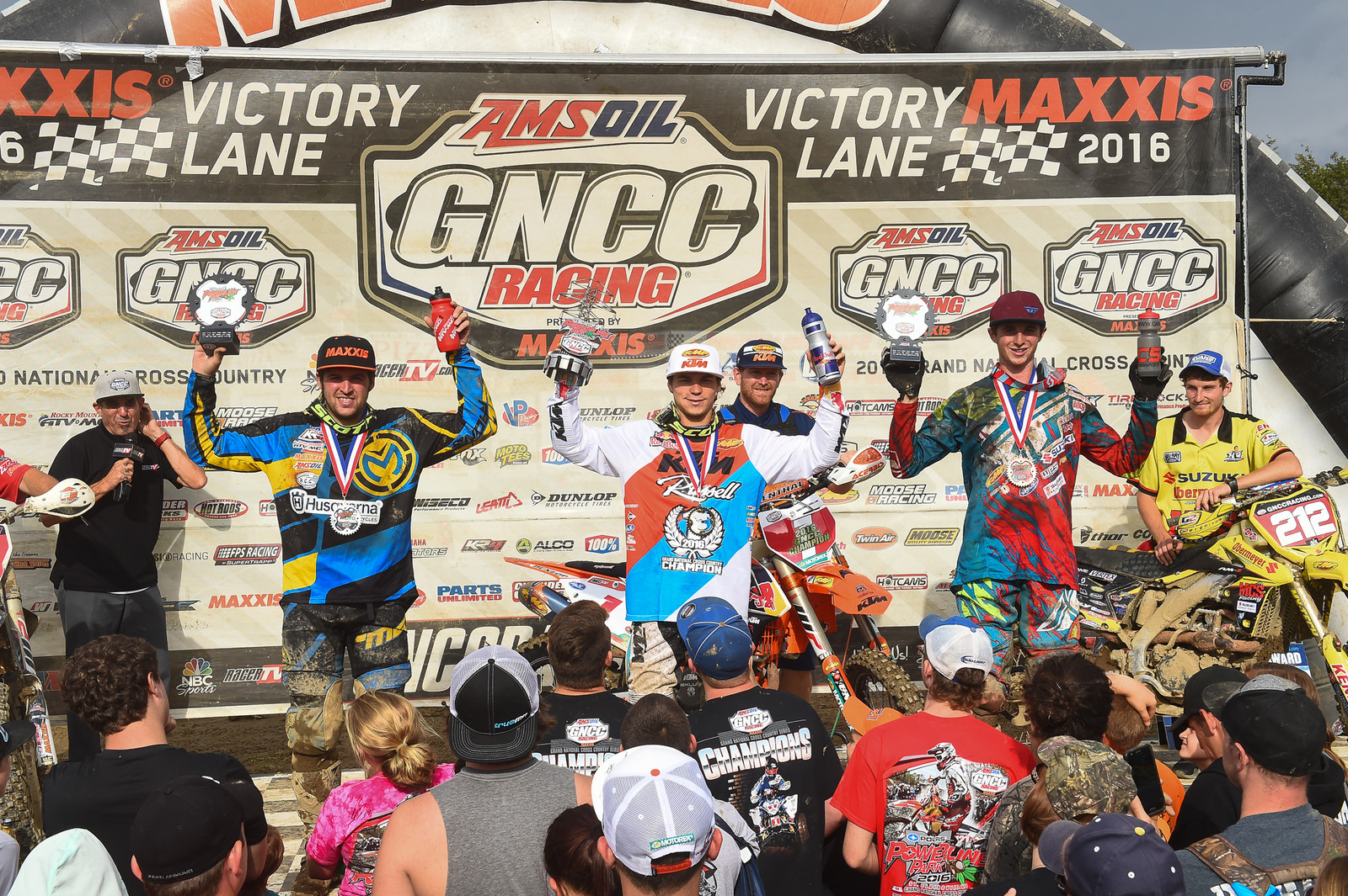 Kailub Russell, Thad Duvall and Ricky Russell - Powerline Park GNCC - Motocross Pictures - Vital MX