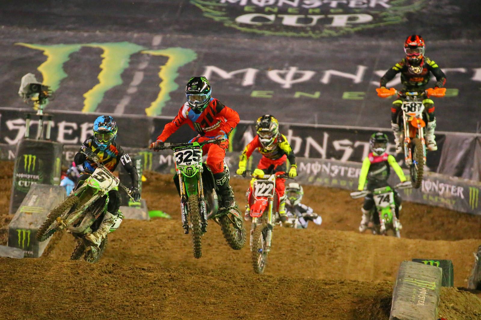 Stilez Robertson, Seth Hammaker, and Carson Mumford - Photo Blast: Monster Energy Cup - Motocross Pictures - Vital MX