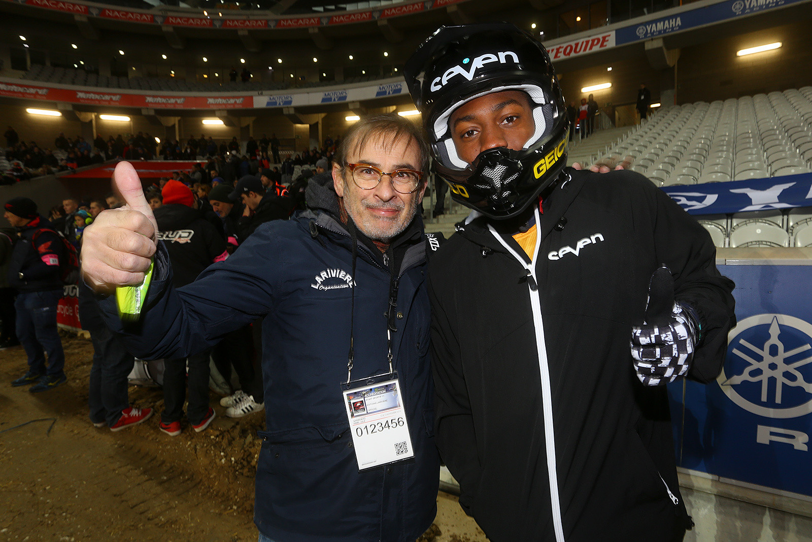 Xavier Audouard and Malcolm Stewart - Photo Gallery: Saturday at the Paris-Lille Supercross - Motocross Pictures - Vital MX