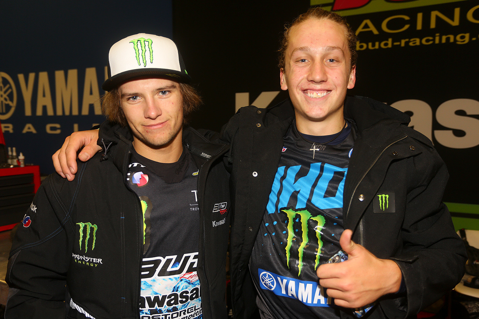 Ryan Surratt and Jake Masterpool - Photo Gallery: Saturday at the Paris-Lille Supercross - Motocross Pictures - Vital MX