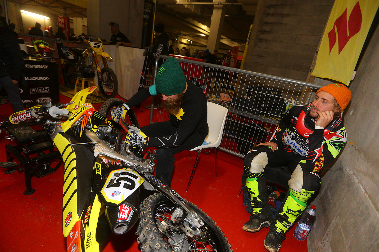 Ben Schiermeyer and Justin Barcia - Photo Gallery: Saturday at the Paris-Lille Supercross - Motocross Pictures - Vital MX