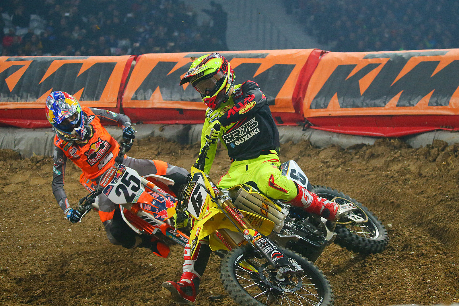 Thomas Ramette and Marvin Musquin - Photo Gallery: Saturday at the Paris-Lille Supercross - Motocross Pictures - Vital MX