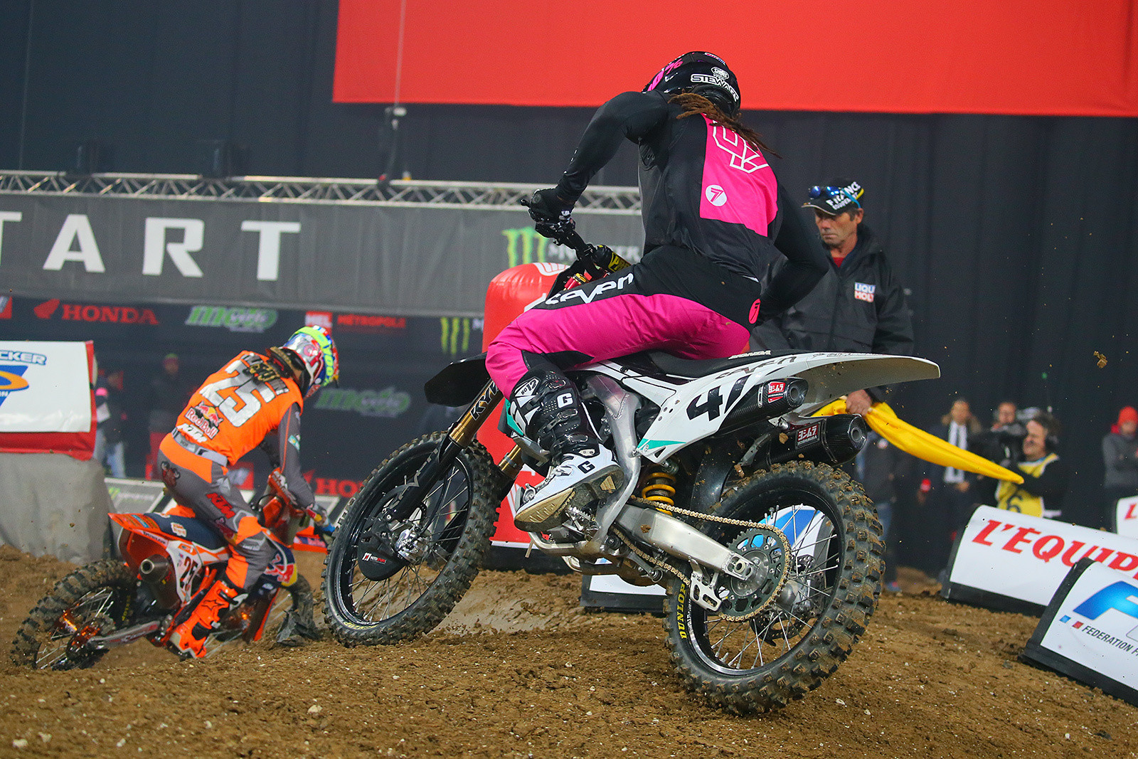 Marvin Musquin and Malcolm Stewart - Photo Gallery: Saturday at the Paris-Lille Supercross - Motocross Pictures - Vital MX