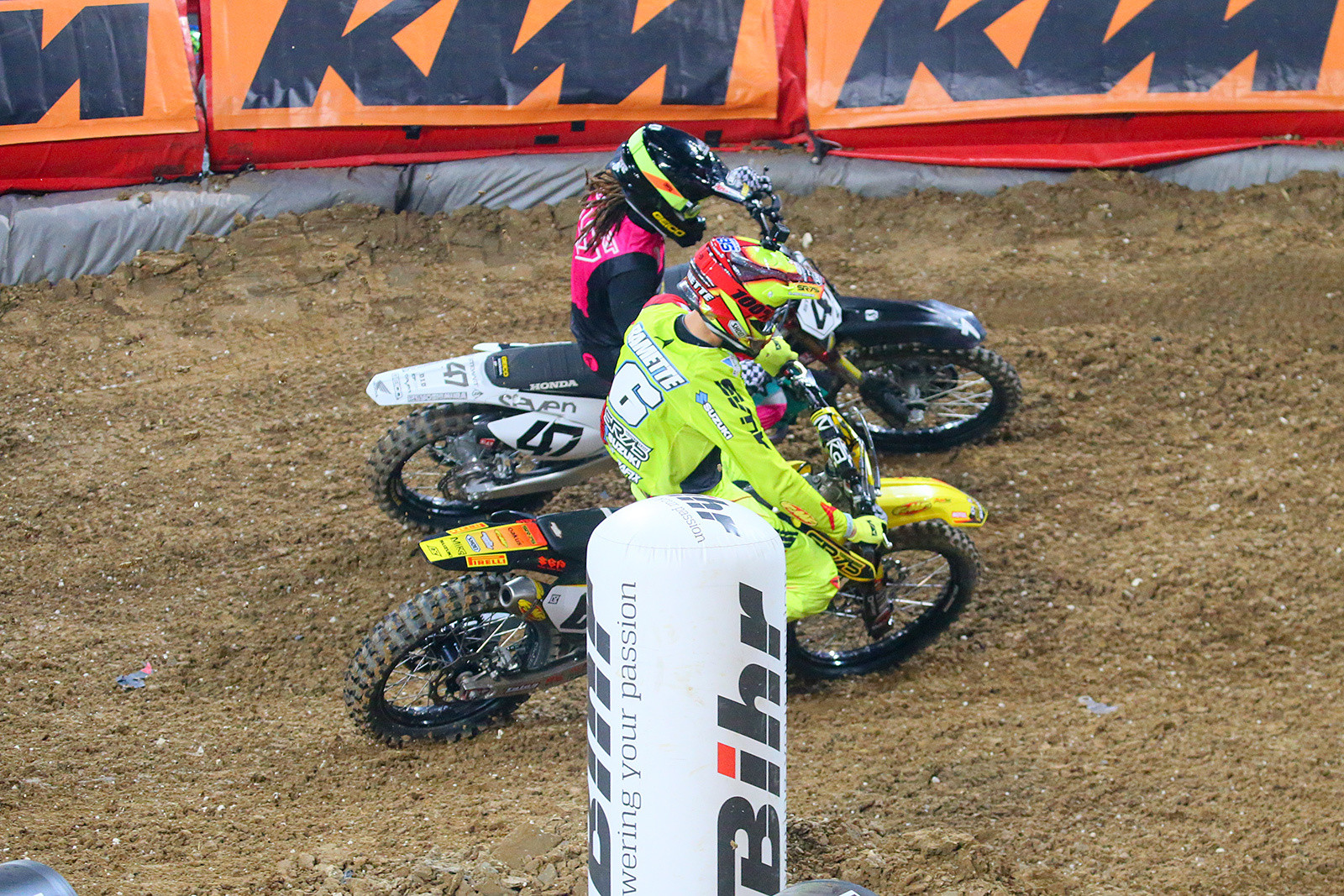 Thomas Ramette and Malcolm Stewart - Photo Gallery: Saturday at the Paris-Lille Supercross - Motocross Pictures - Vital MX