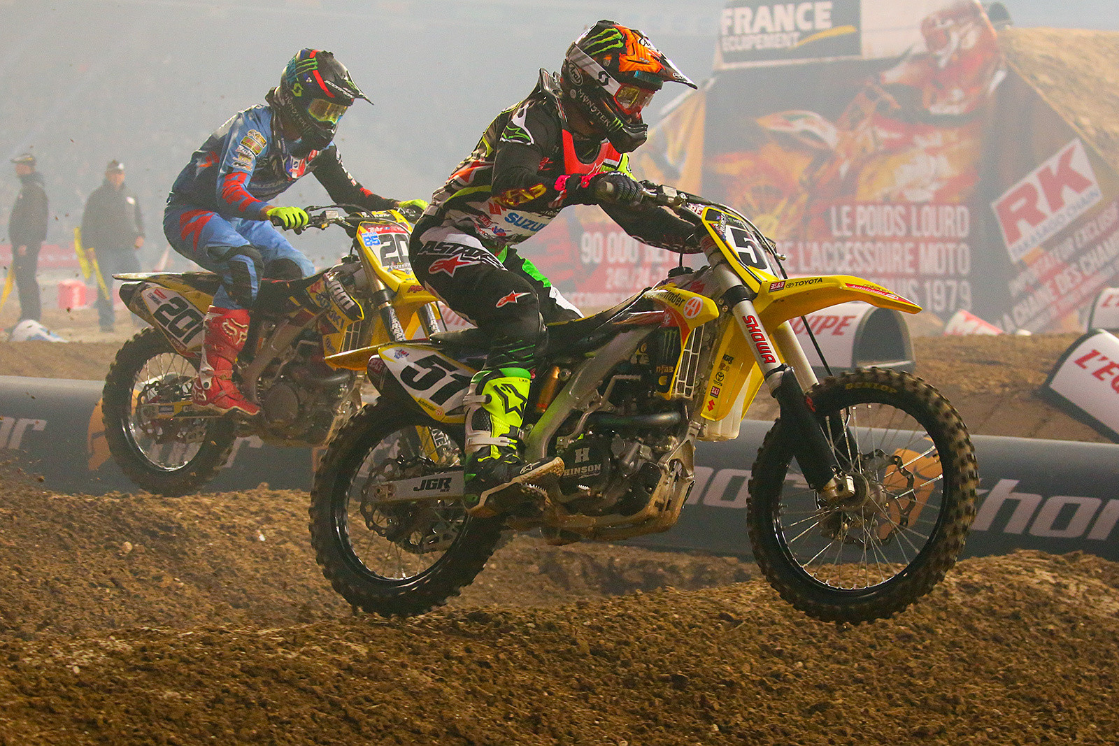 Justin Barcia and Cedric Soubeyras - Photo Gallery: Paris-Lille Supercross, Day 2 - Motocross Pictures - Vital MX