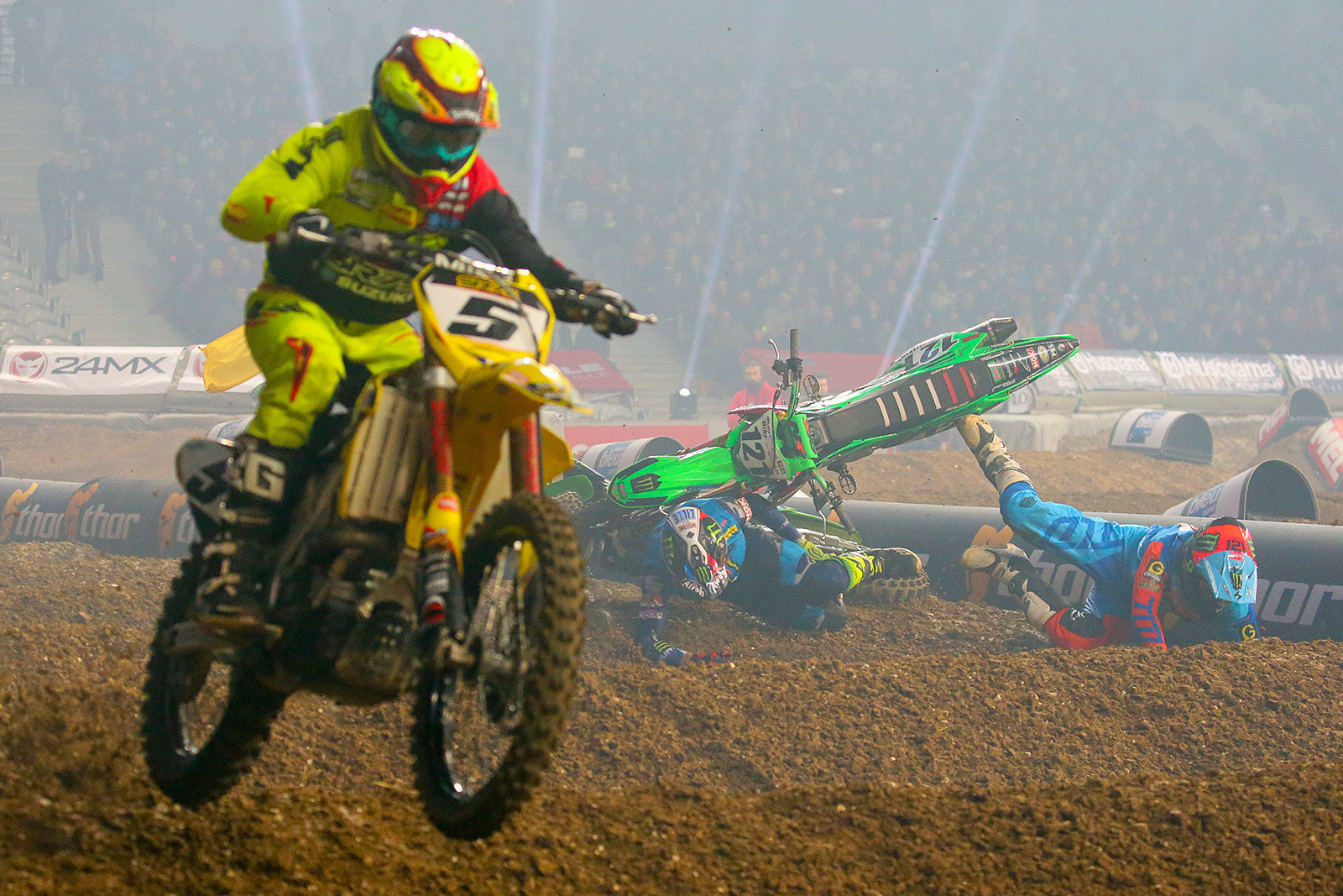 Jordi Tixier and Xavier Boog - Photo Gallery: Paris-Lille Supercross, Day 2 - Motocross Pictures - Vital MX