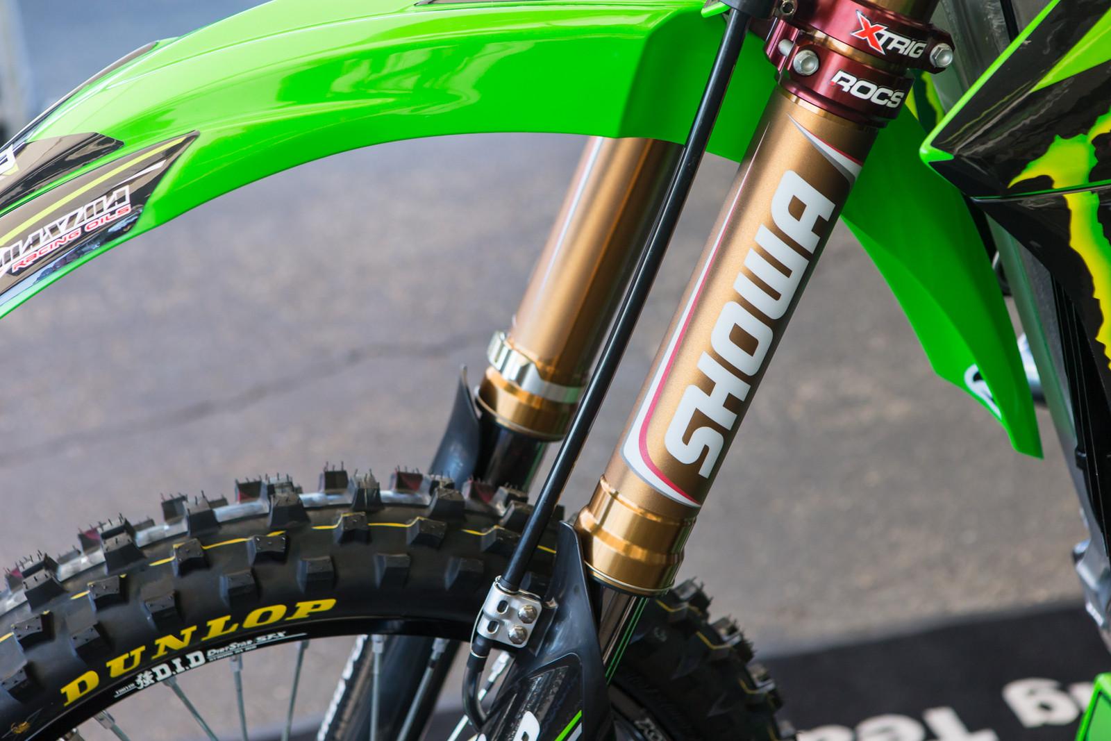 Showa Stickers - Vital MX Pit Bits: Anaheim 1 - Motocross Pictures - Vital MX