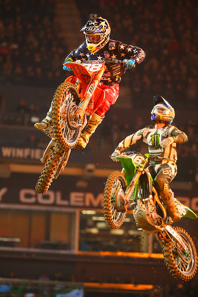 Shane McElrath and Justin Hill - Photo Blast: San Diego - Motocross Pictures - Vital MX